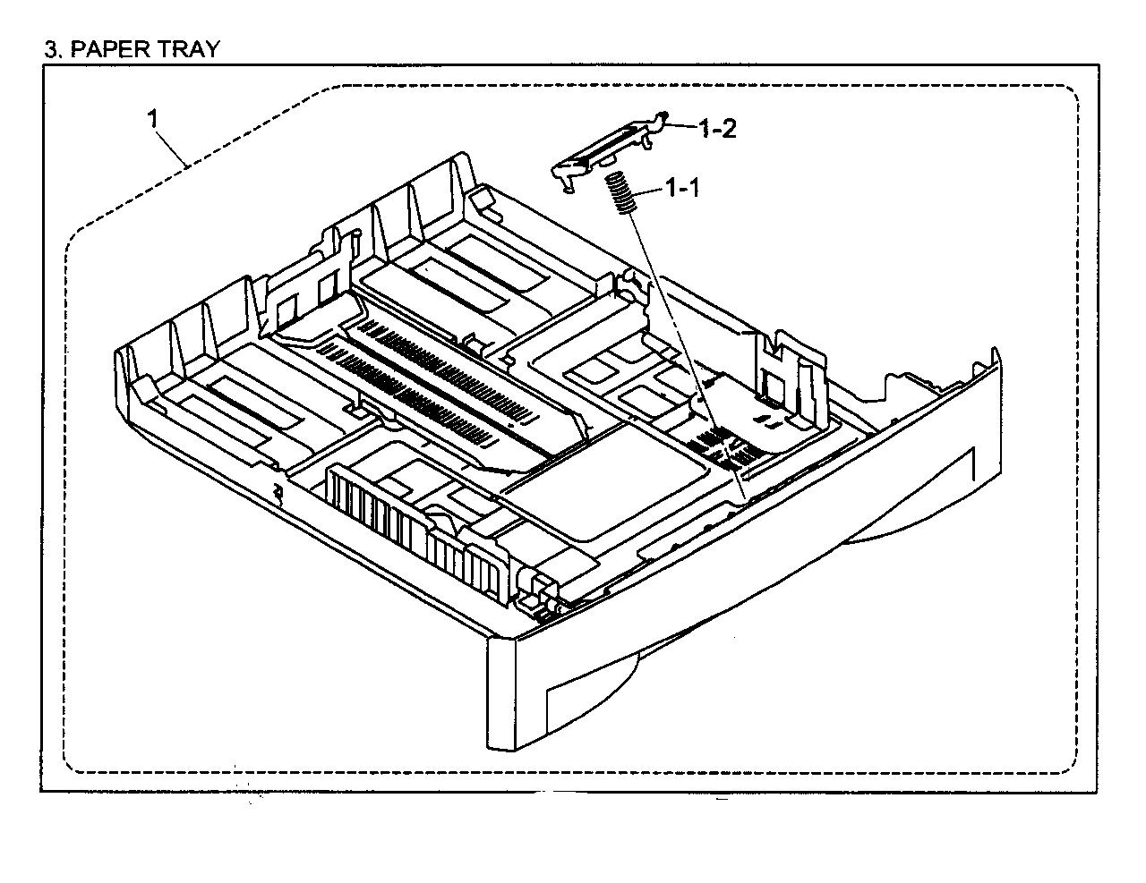 Brother model HL-2070N printer genuine parts
