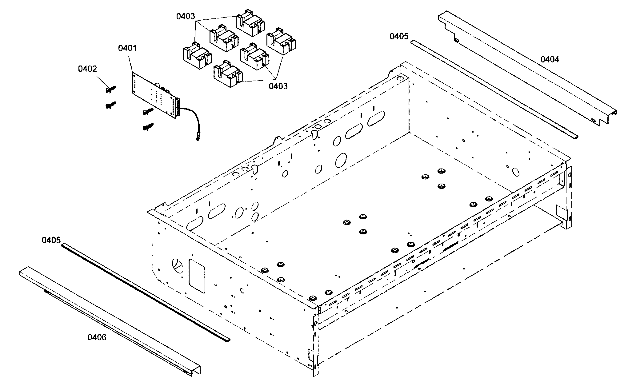 Thermador model PCG366E01 counter unit, gas genuine parts