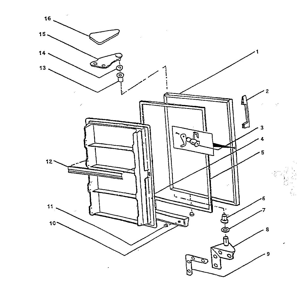Wc-Wood model V20NAB upright freezer genuine parts