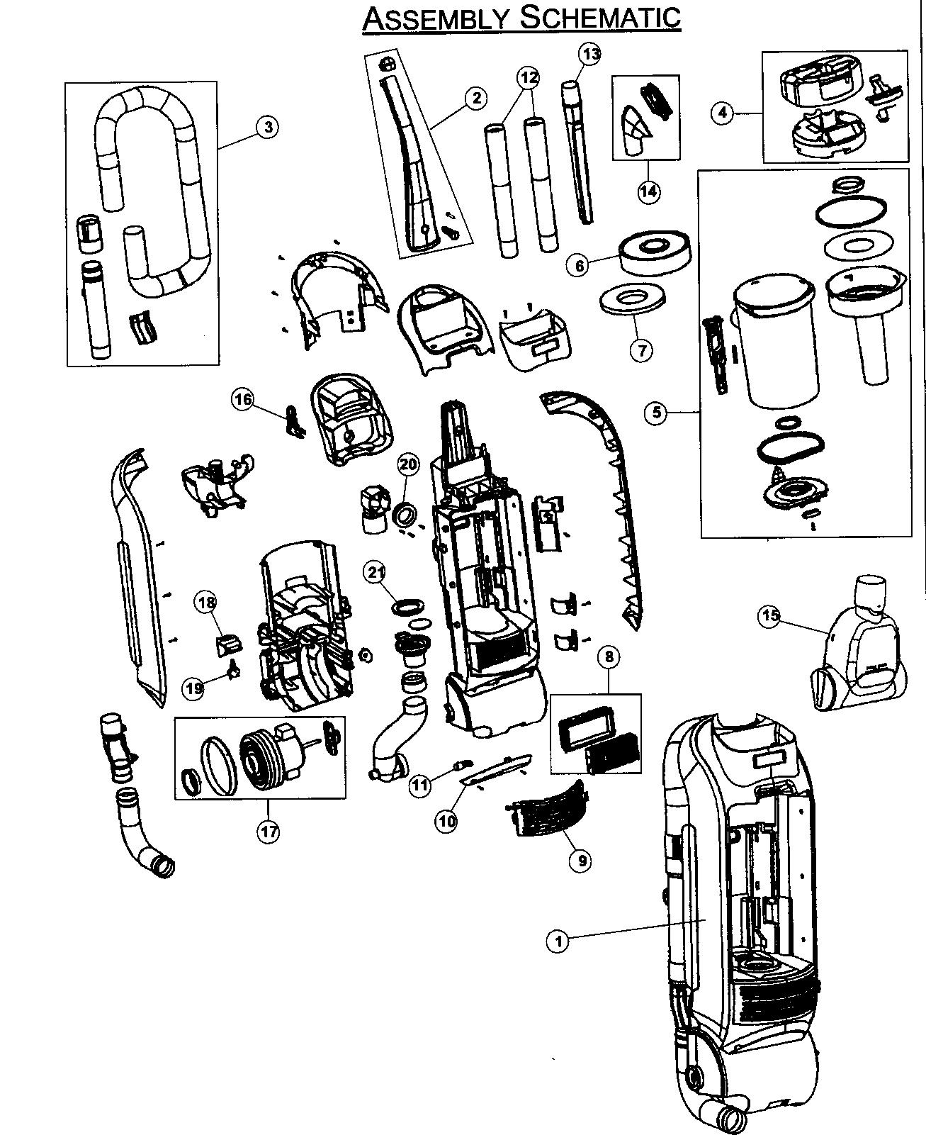 Kenmore model 21637010800 vacuum, upright genuine parts