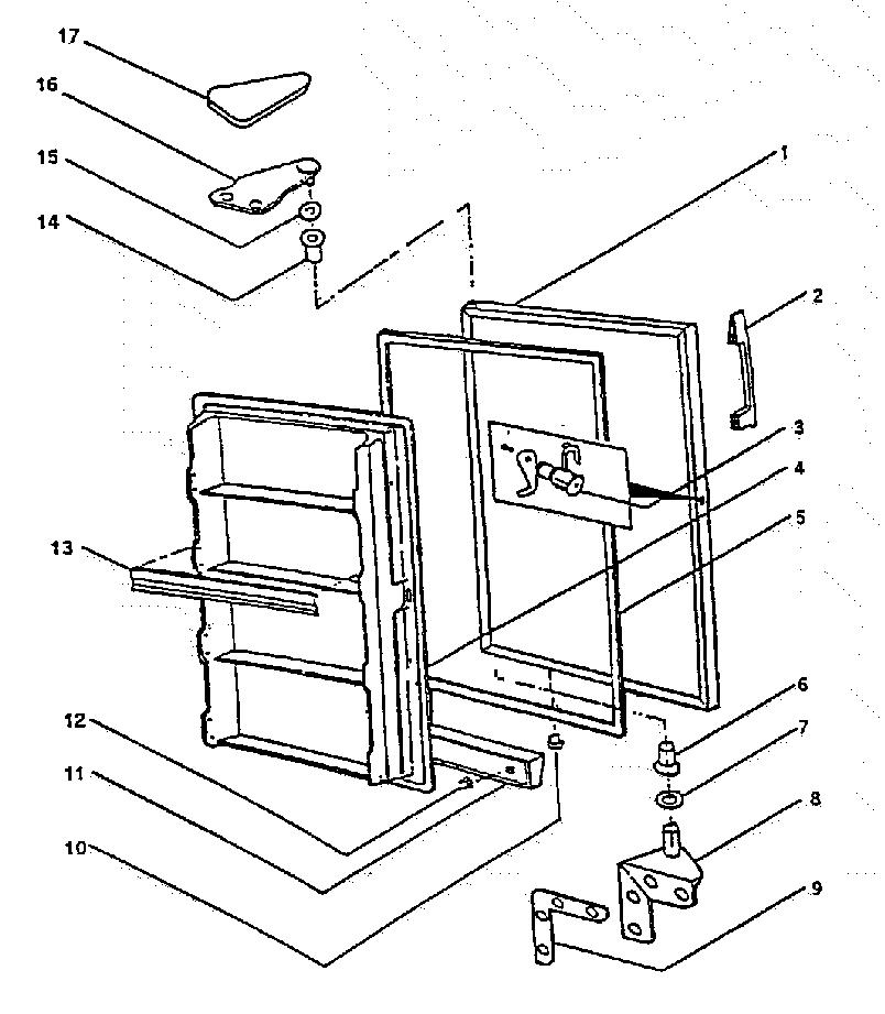 Wc-Wood model F17NAC upright freezer genuine parts