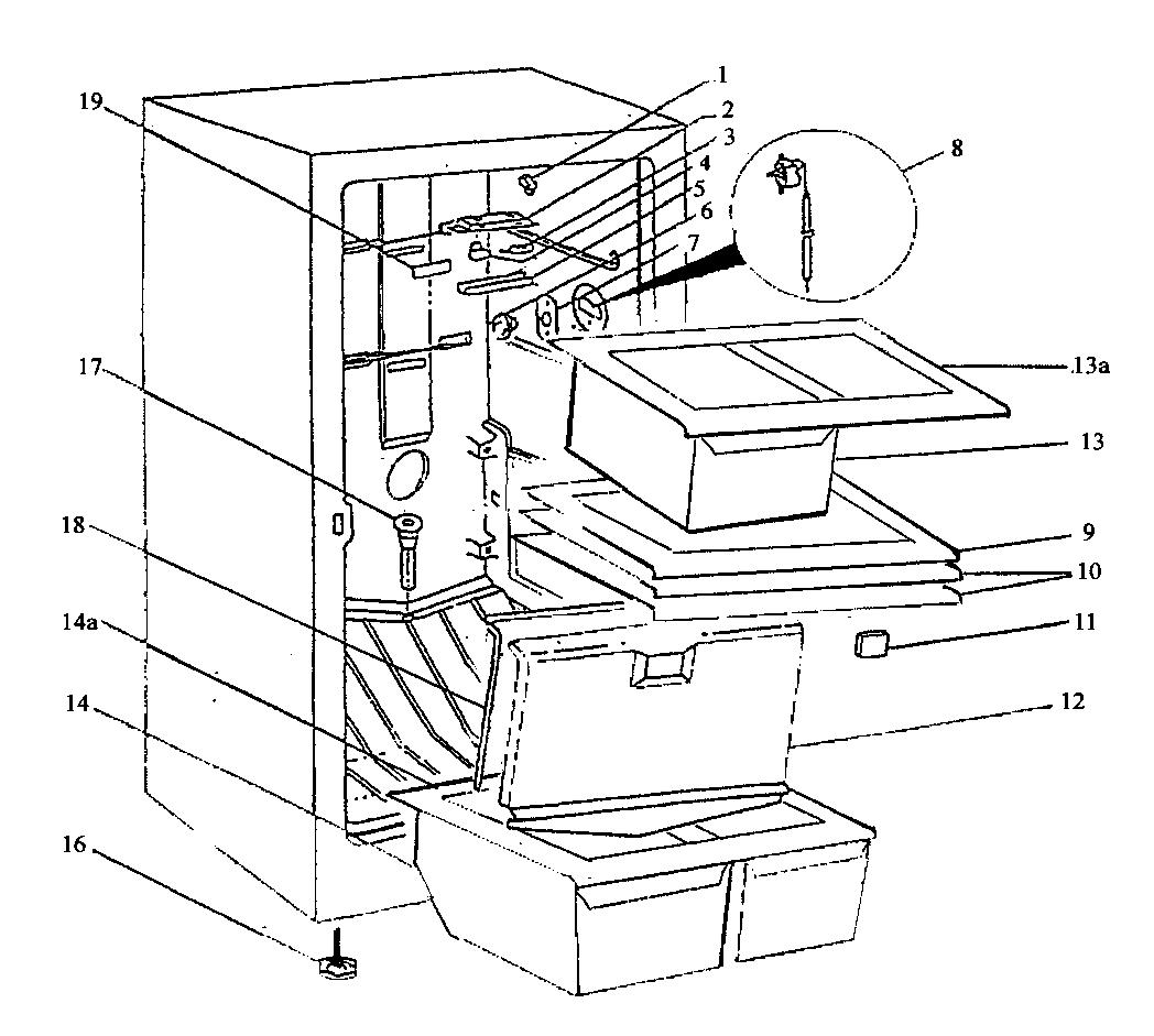 Wc-Wood model RFC17WBE upright freezer genuine parts