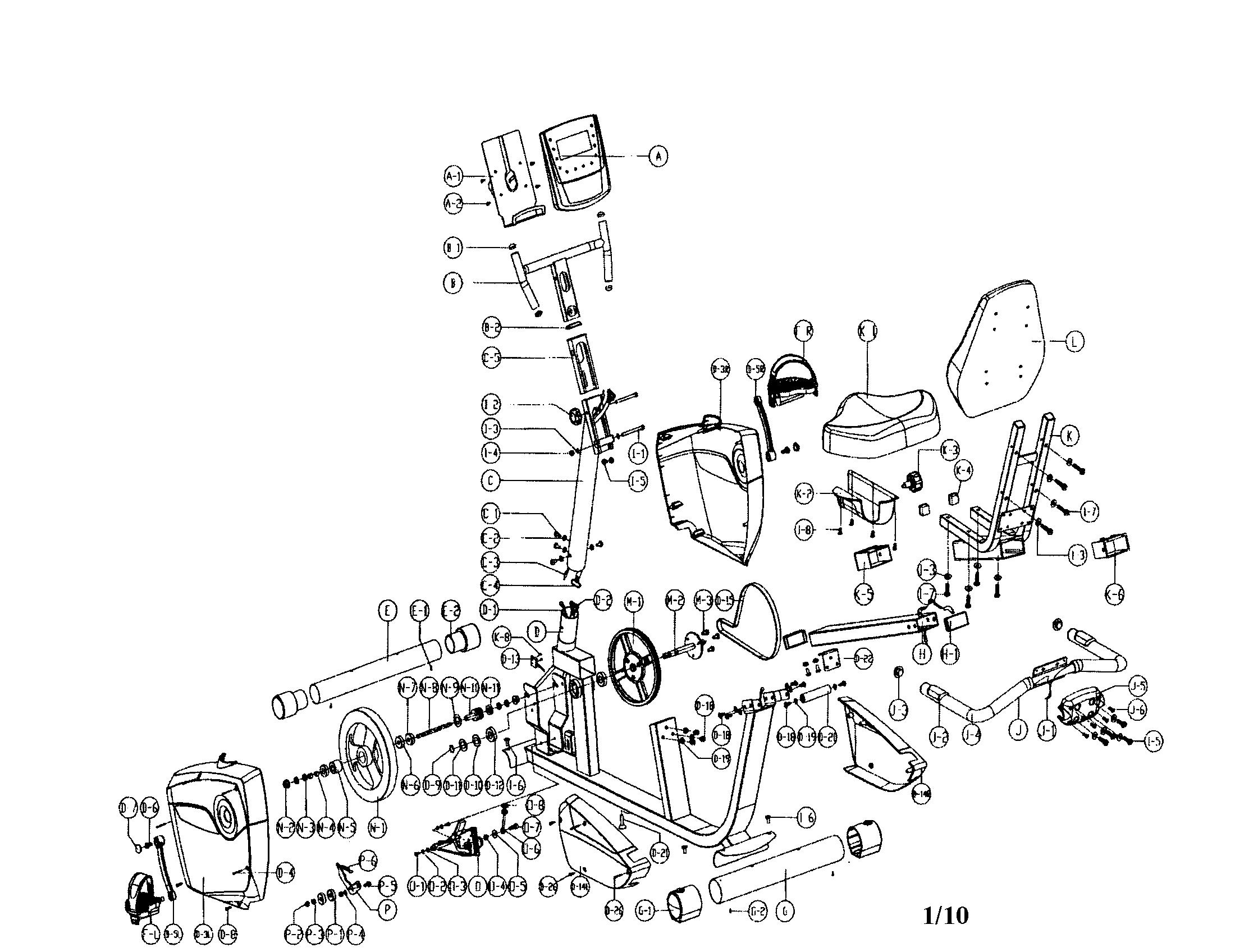 Schwinn model SR23 cycle genuine parts