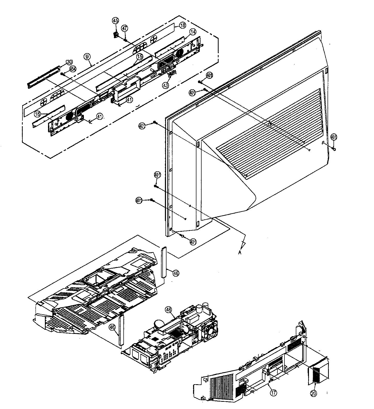 Panasonic model PT-61LCZ7 lcd television genuine parts