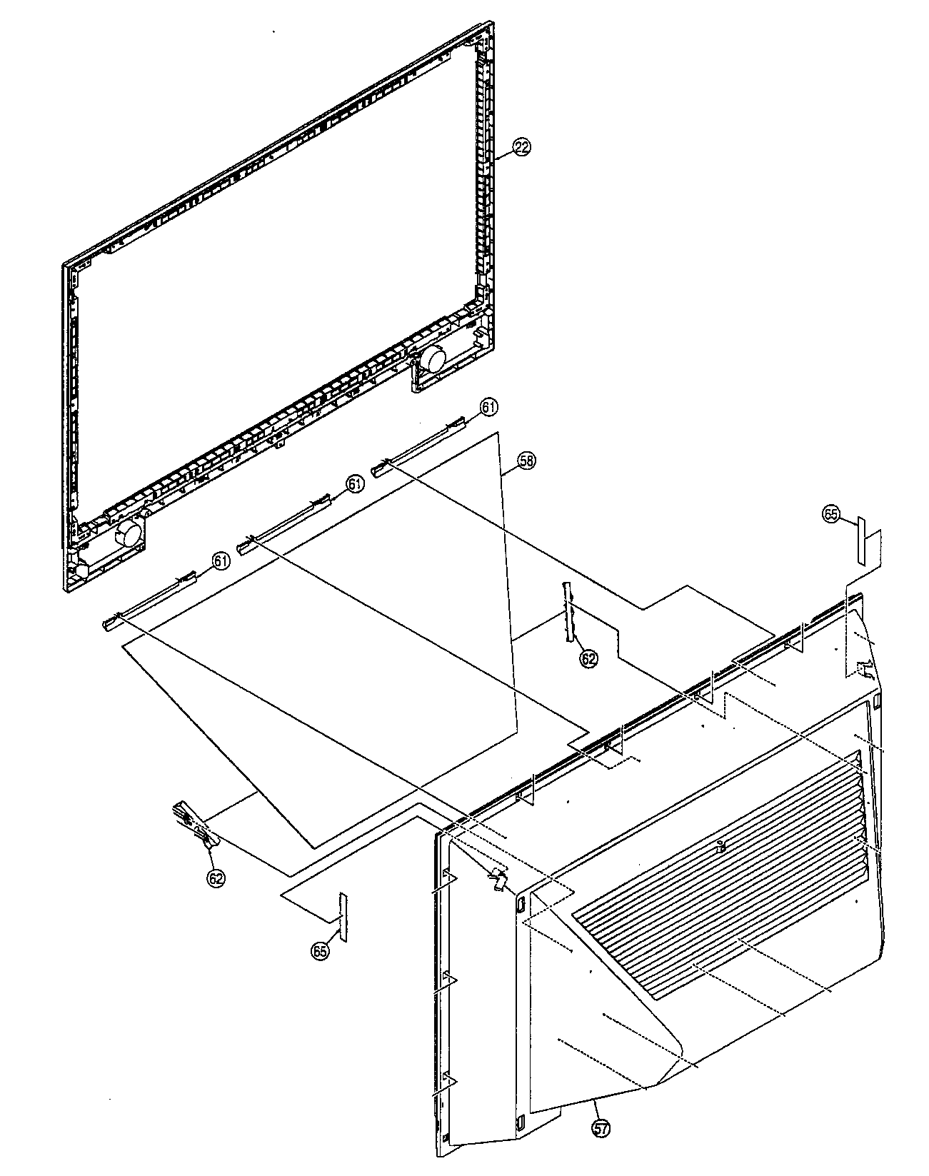 Panasonic model PT-61LCZ70 lcd television genuine parts