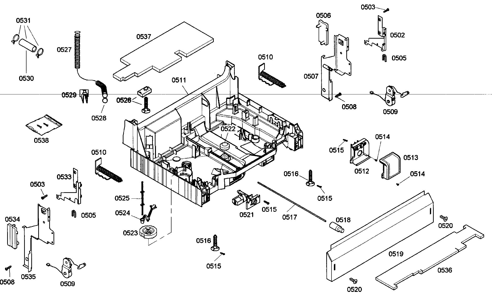Bosch model SHE45M06UC/48 dishwasher genuine parts