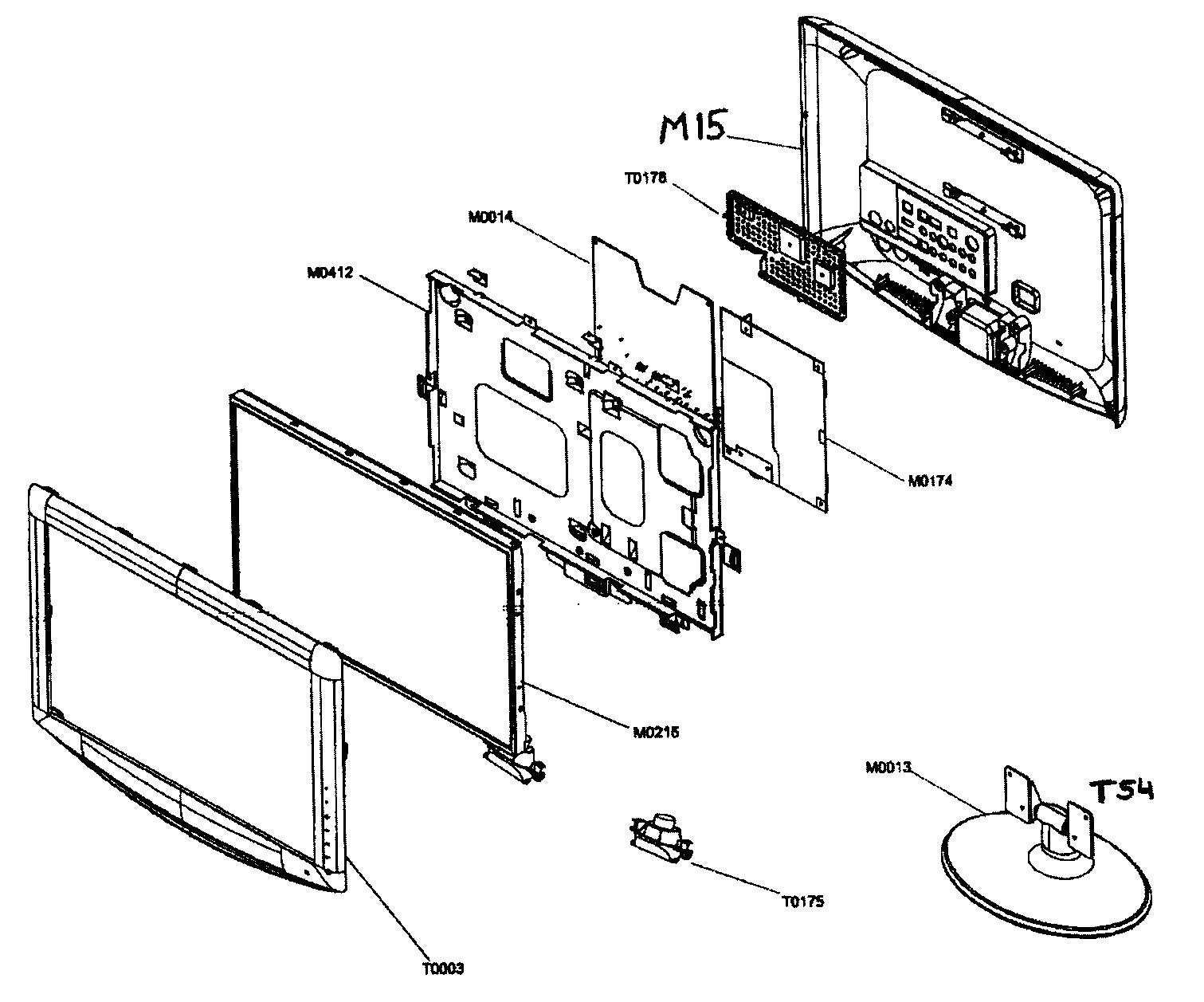 Samsung model LNT1954H lcd television genuine parts