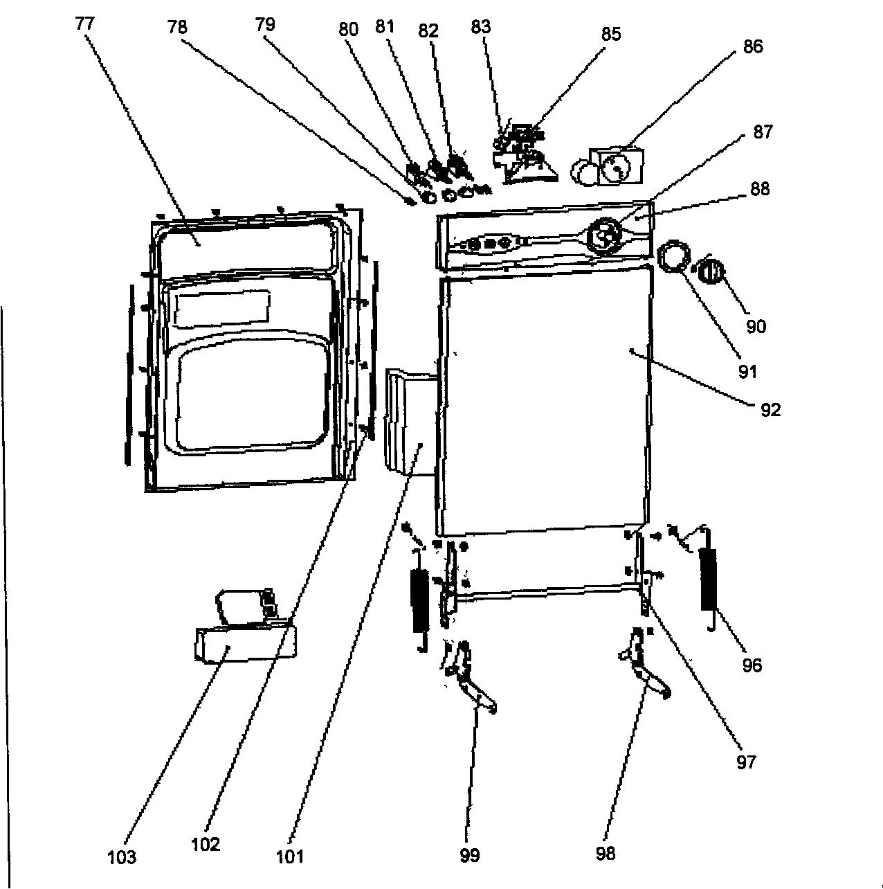 Danby model DDW1802W dishwasher genuine parts