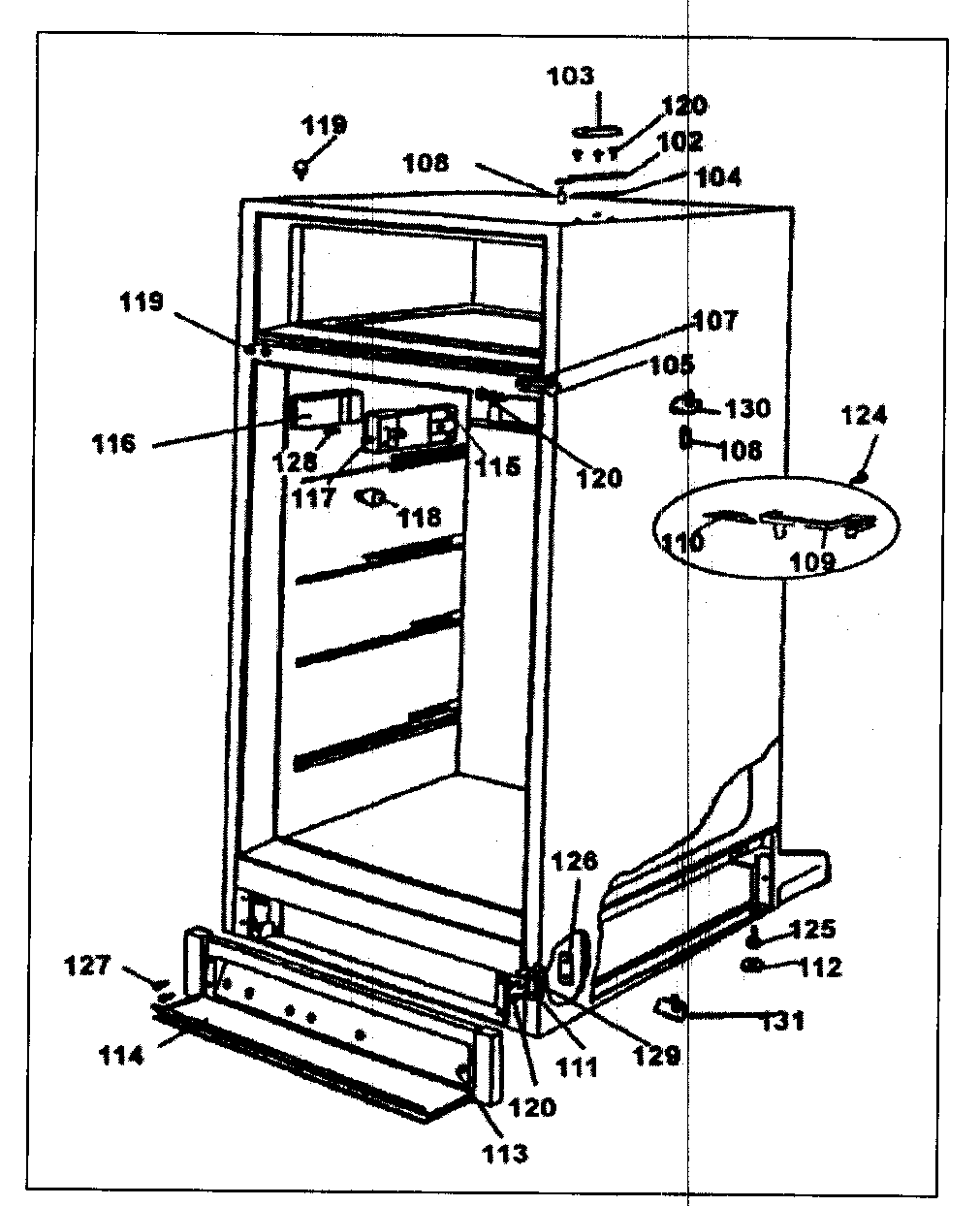 Danby model DPR2260W all refrigerator genuine parts
