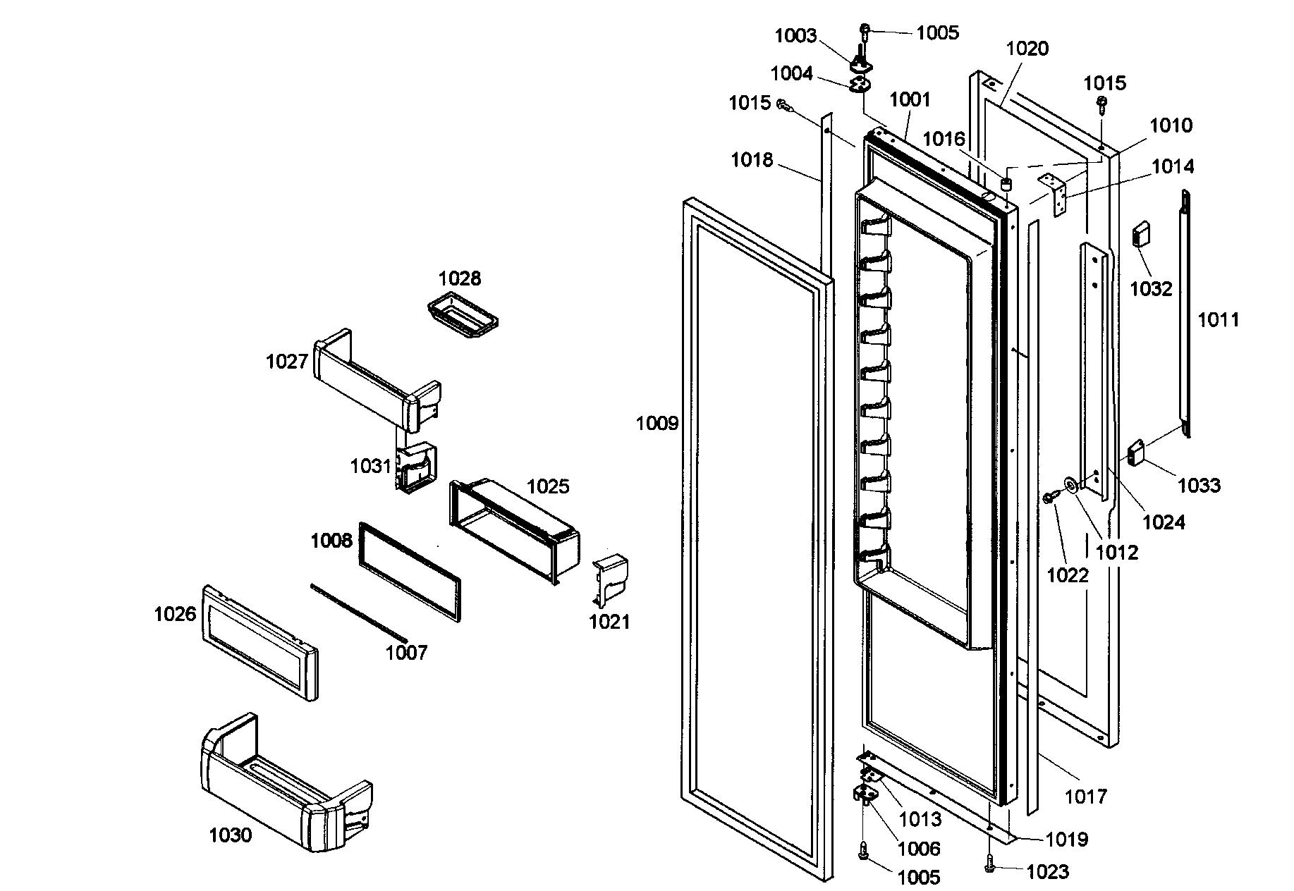 Thermador model KBUDT4255E/01 side-by-side refrigerator
