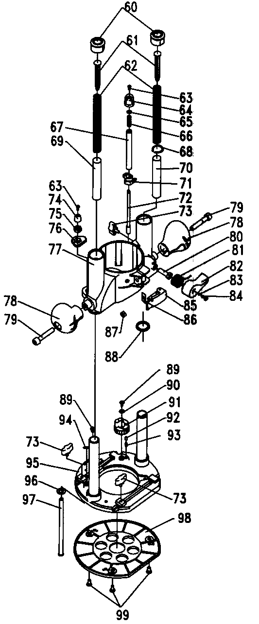 Craftsman model 32028084 router genuine parts