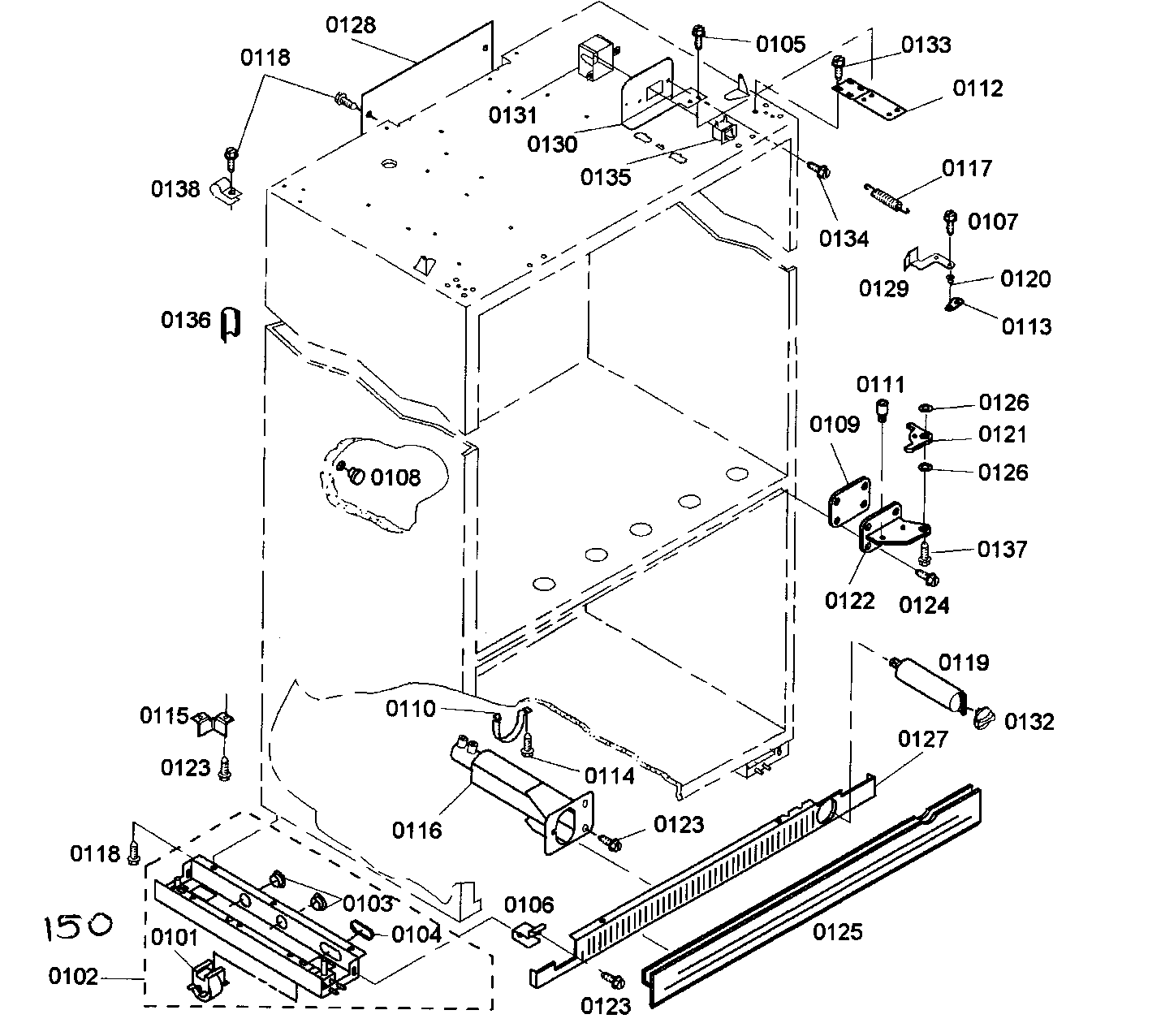 Thermador model KBURT3655E01 bottom-mount refrigerator