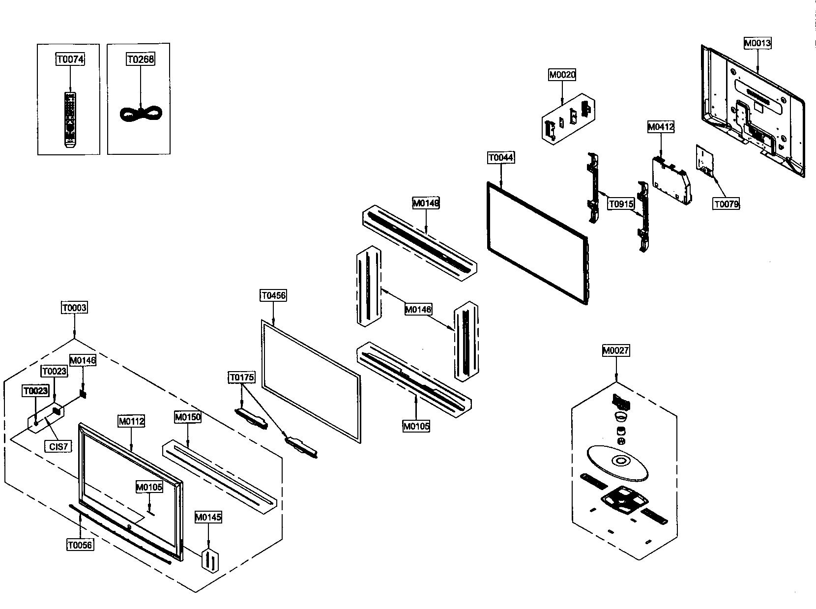 Samsung model HPT5054X/XAP plasma television genuine parts