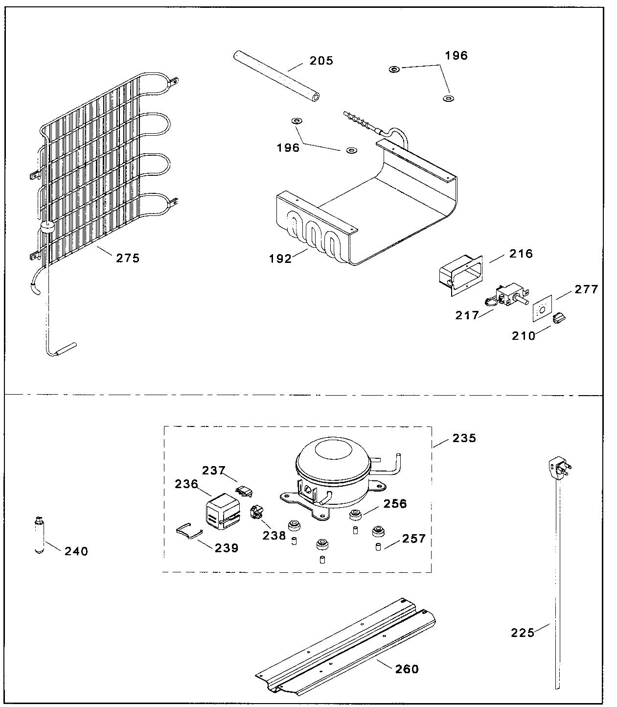 Danby model DCR382W under counter refrigerator genuine parts
