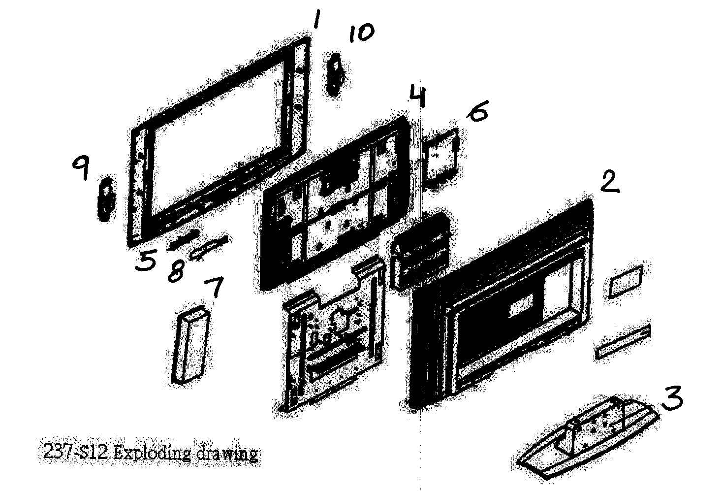 Olevia model 237-S12 lcd television genuine parts