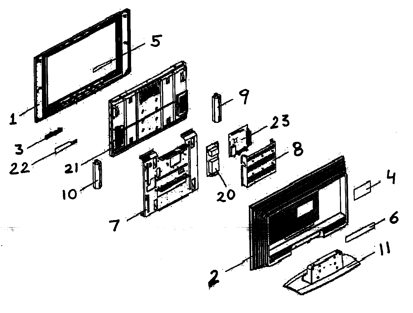 Olevia model 232-S13 lcd television genuine parts