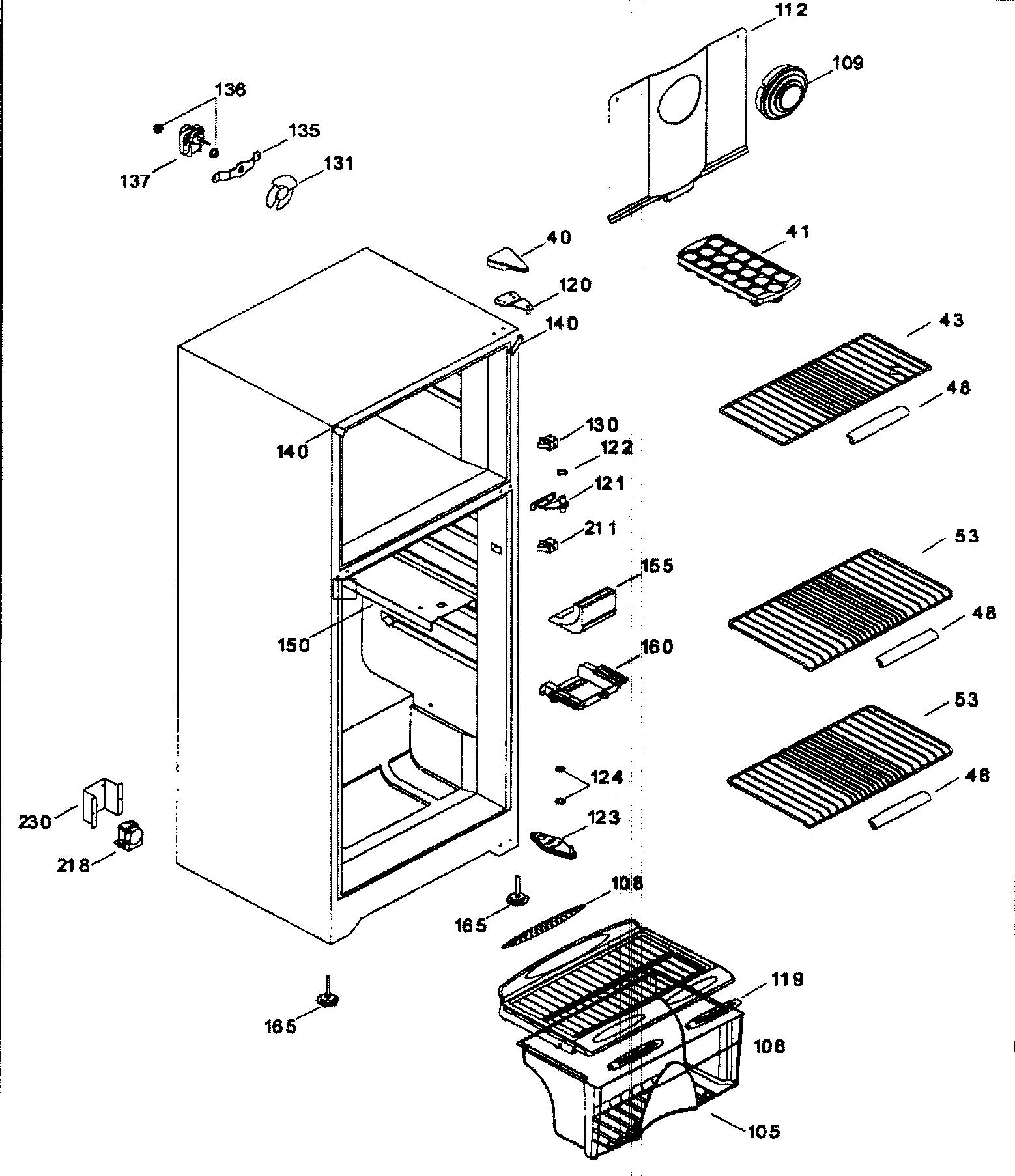 Danby model DFF8803W all refrigerator genuine parts