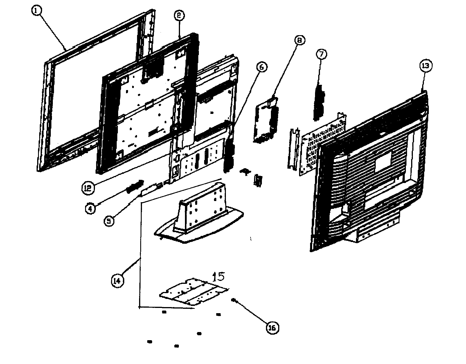 Olevia model 242-S11 lcd television genuine parts