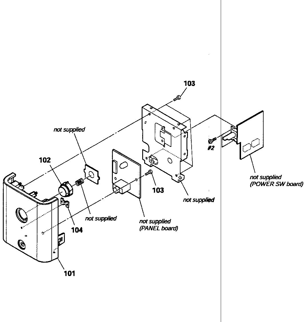 Sony model TA-SA100WR amplifier genuine parts