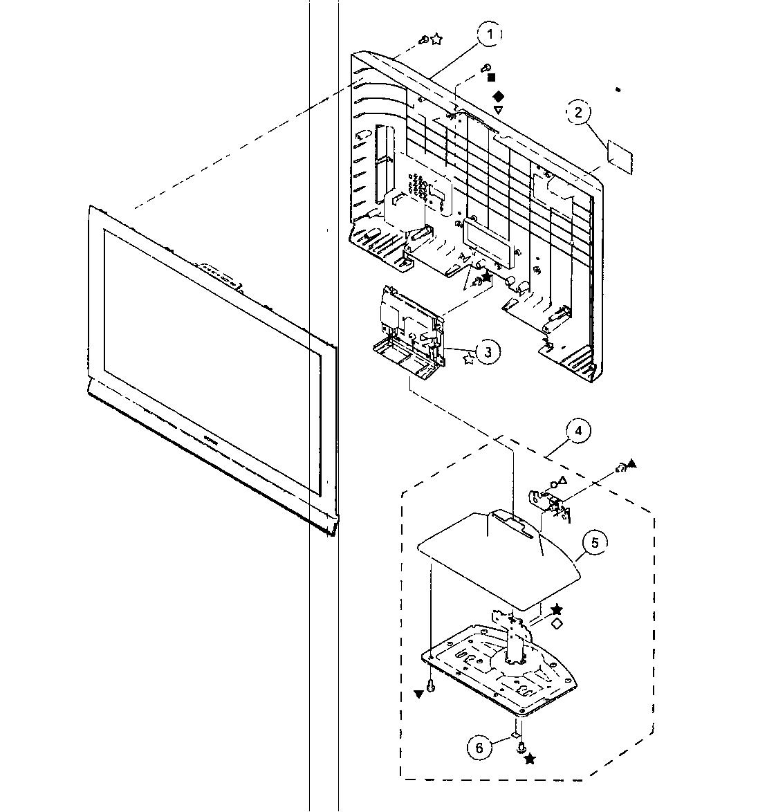 Sony model KDL-37L4000 lcd television genuine parts