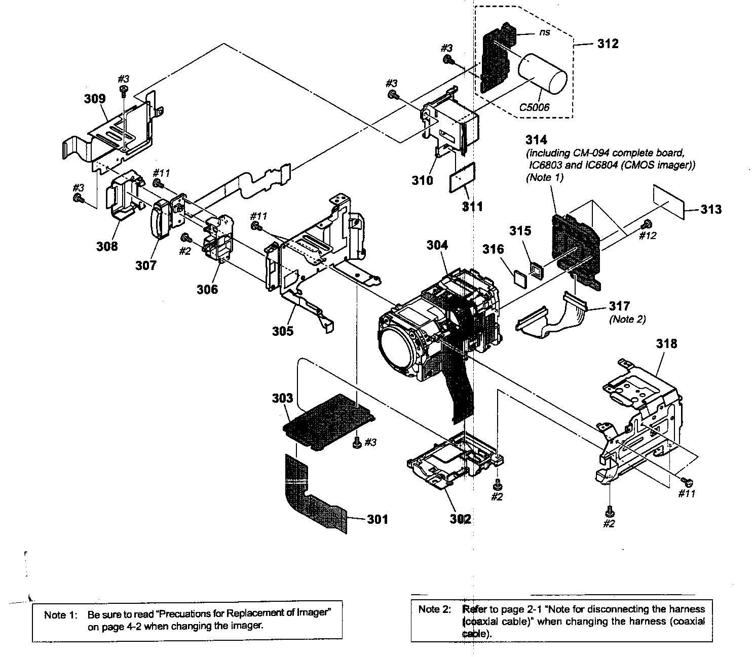 Sony model HDR-SR11 digital camcorder genuine parts