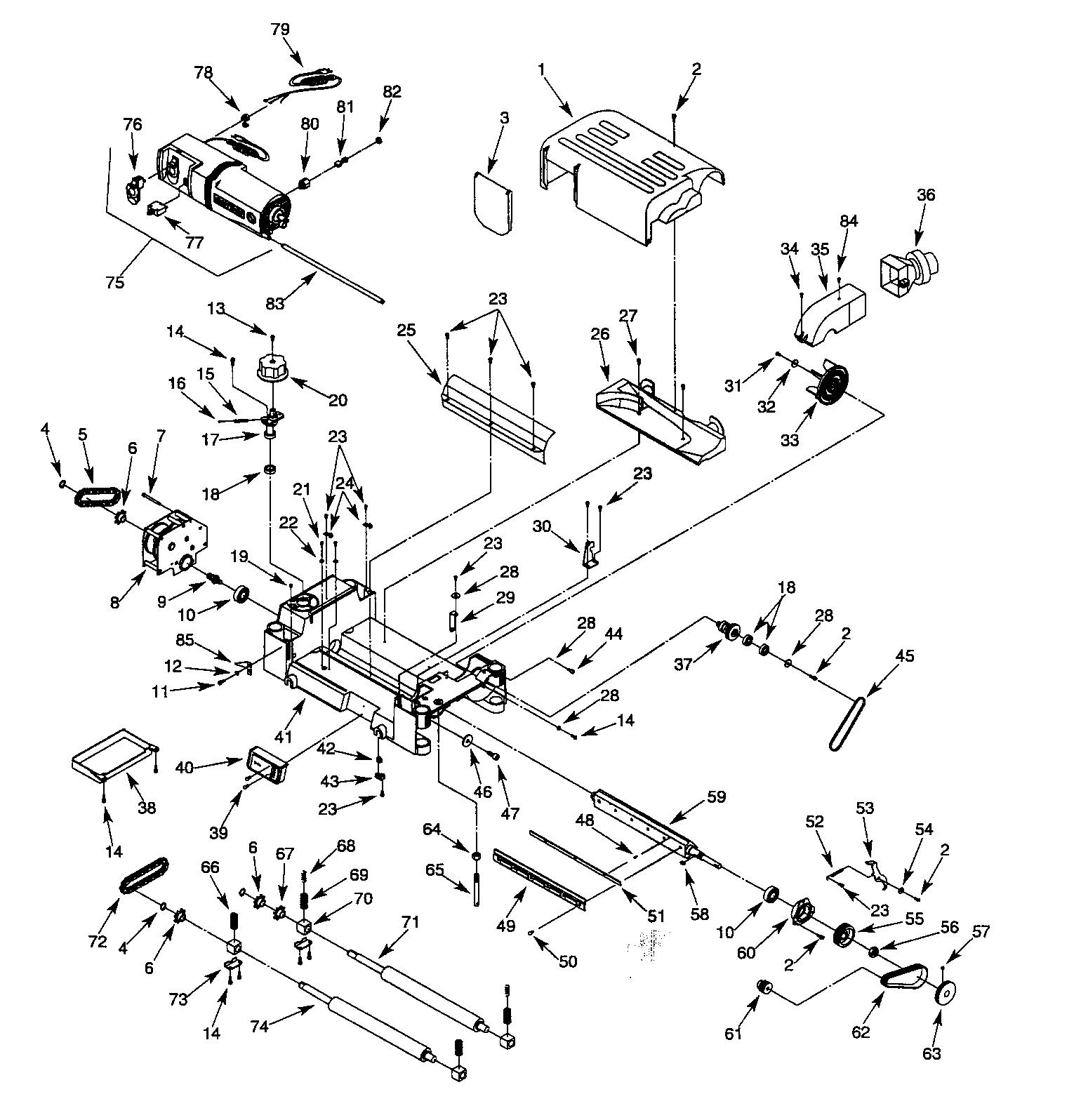 Craftsman model 351217590 planer genuine parts