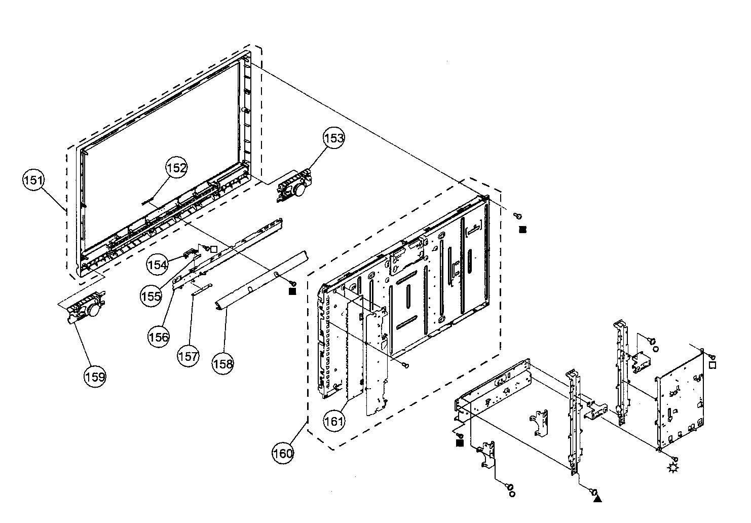 Sony model KDL-40V4100 lcd television genuine parts