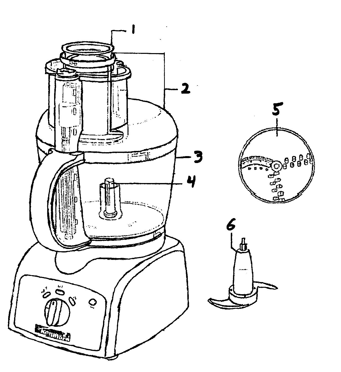 Kenmore model 10082002 food processor genuine parts