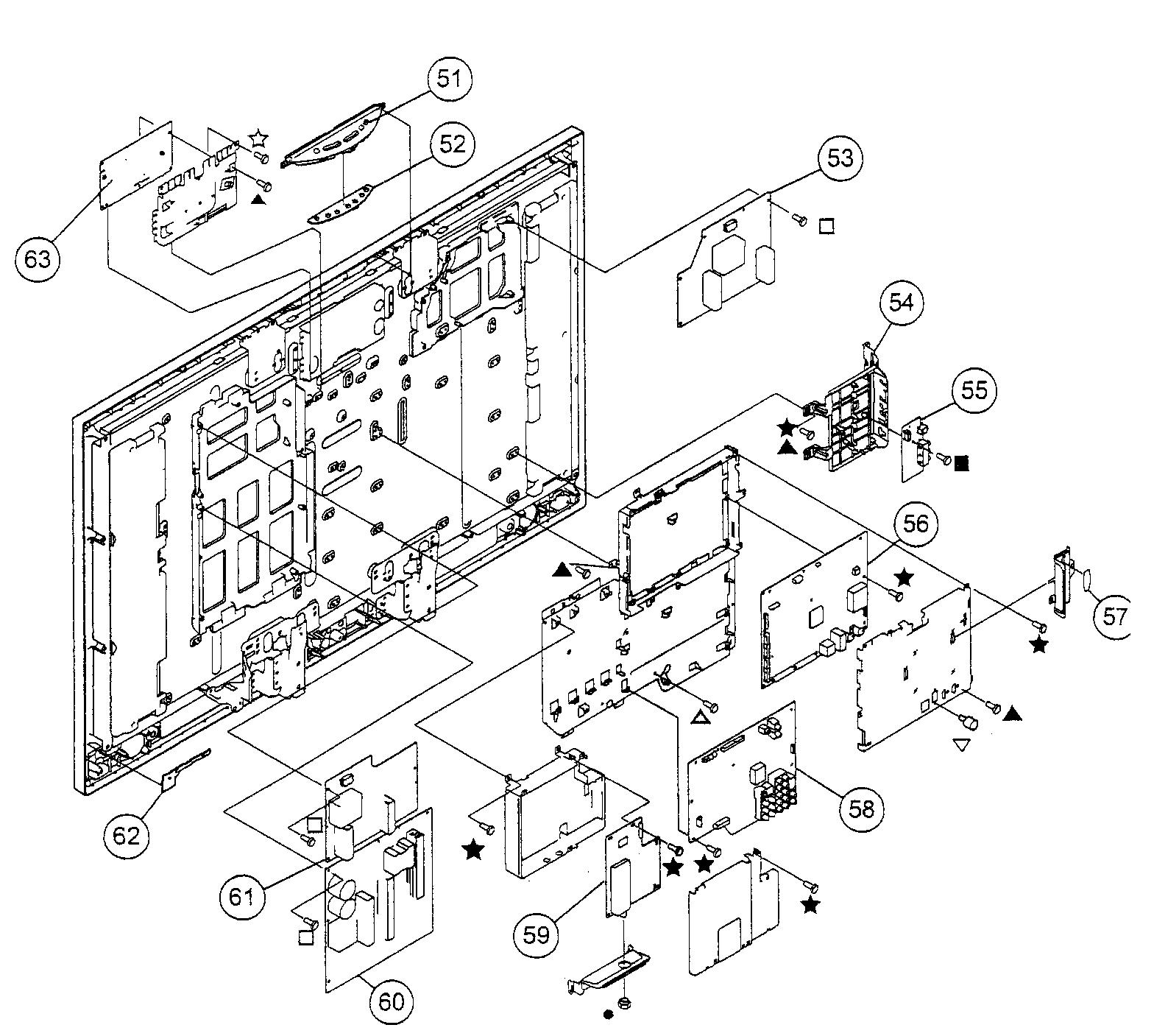 Sony model KDL-46WL135 lcd television genuine parts