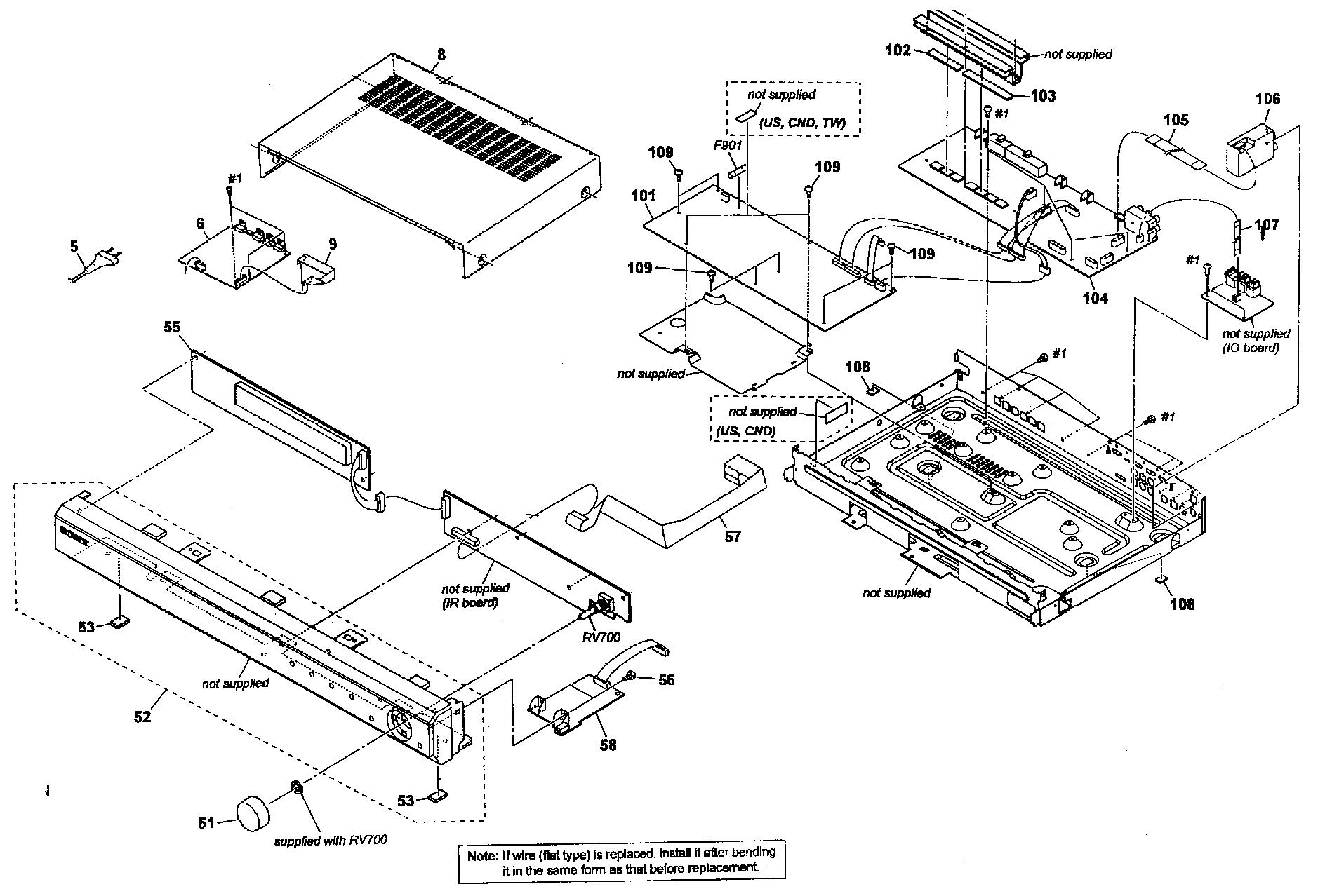 Sony model STR-KS2300 receivers genuine parts