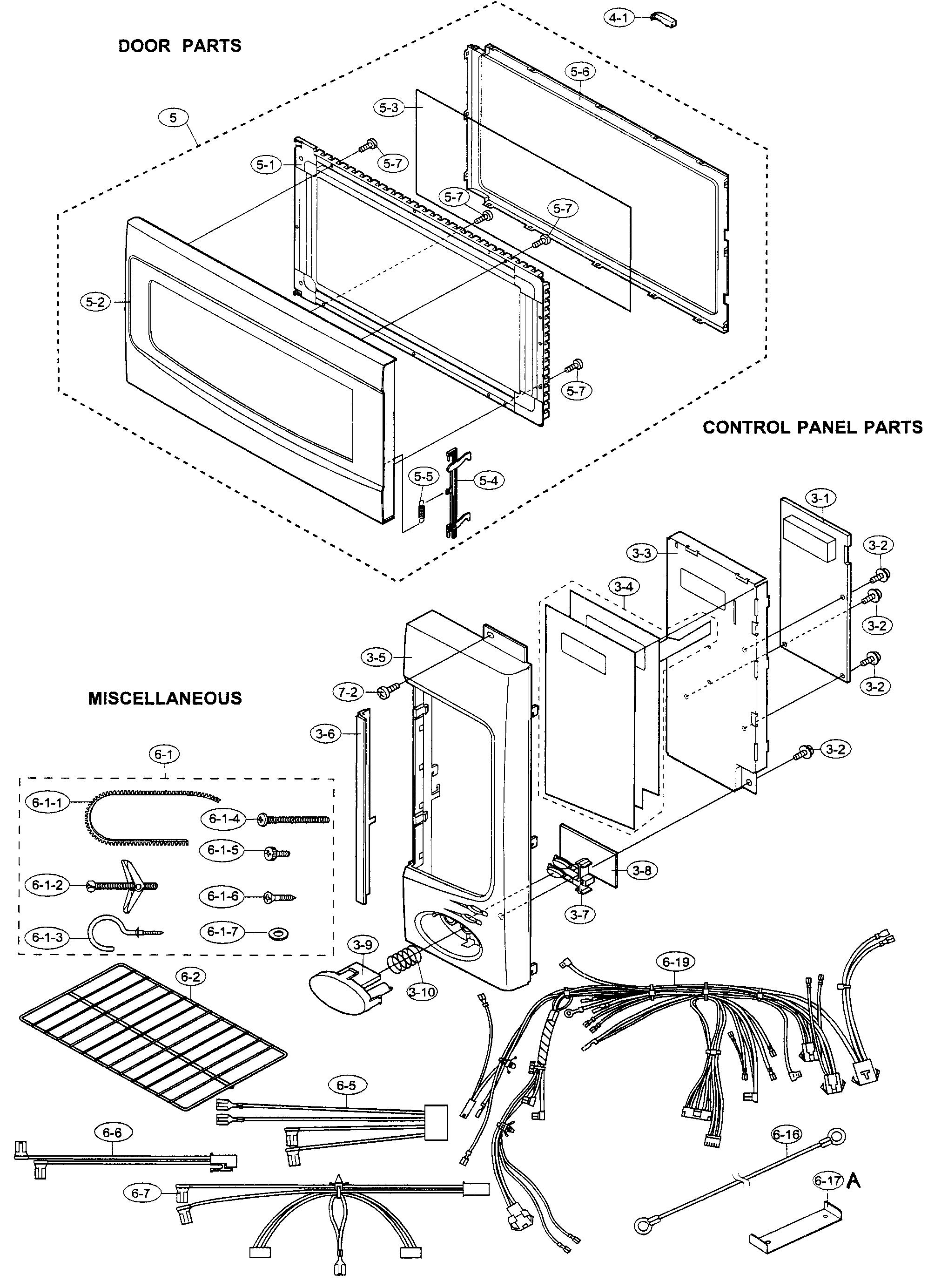 Sharp model R-2130JS microwave/hood combo genuine parts