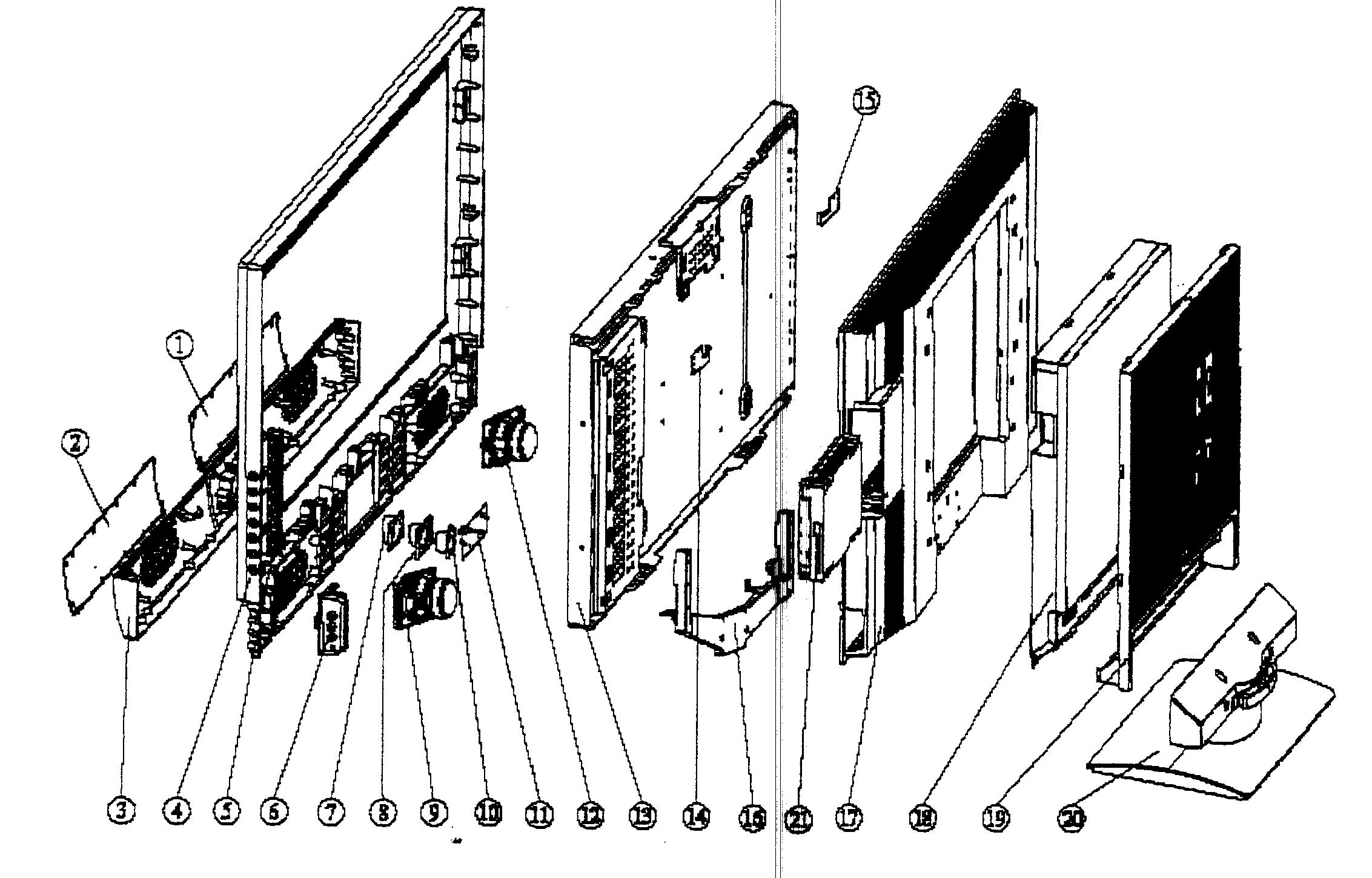 Memorex model MLTD3222 tv/vcr or dvd combo genuine parts