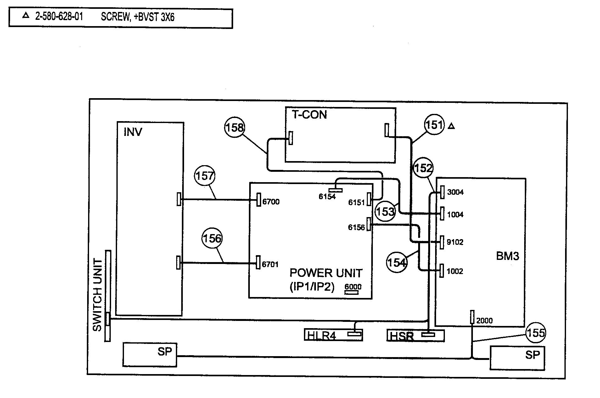 Sony model KDL-46V5100 lcd television genuine parts