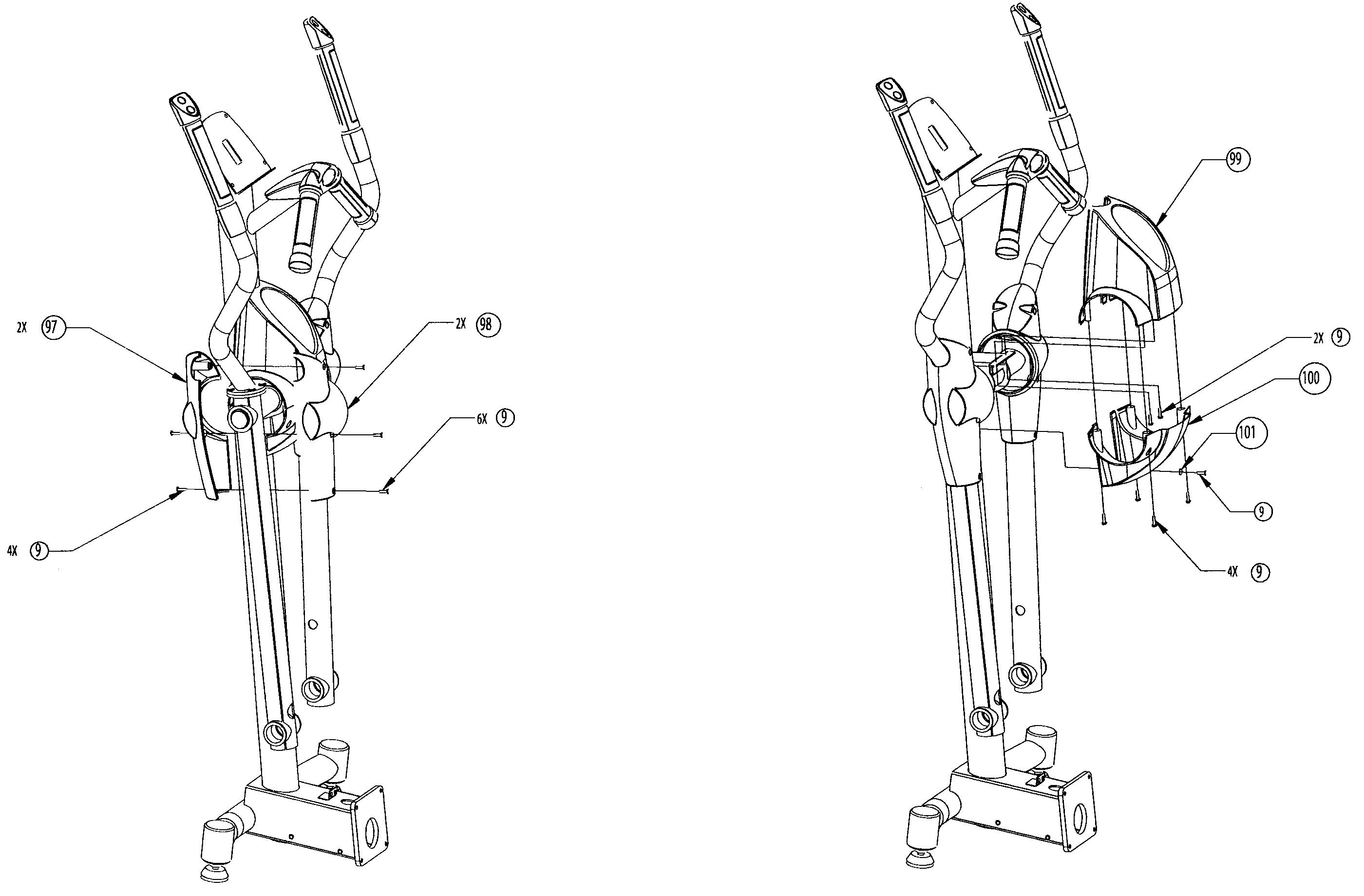 Nautilus model E9.16 elliptical genuine parts