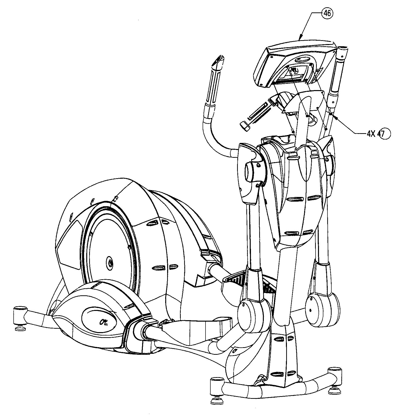 Nautilus model EV9.16 elliptical genuine parts