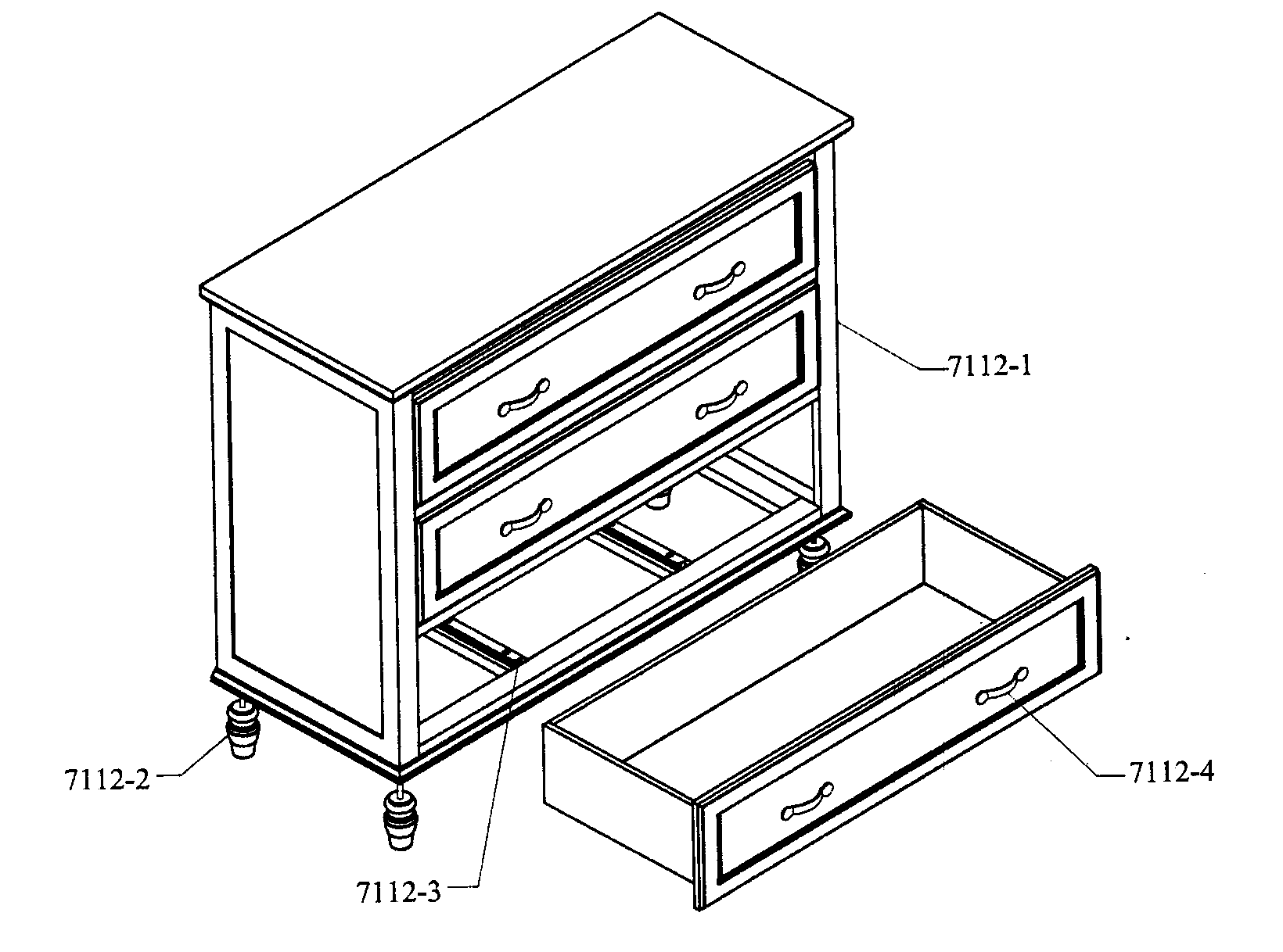 Lands-End model 7112 furniture genuine parts