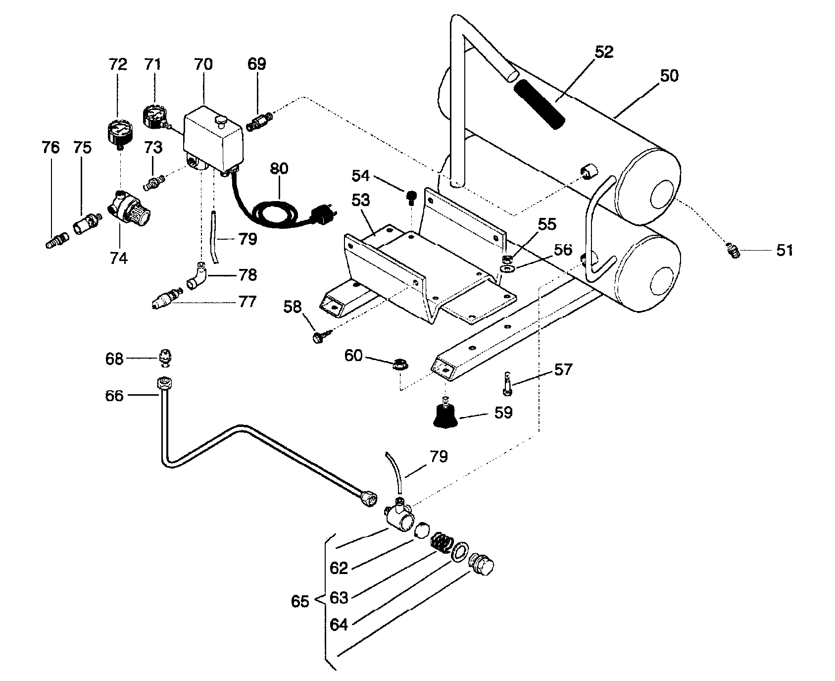 Ingersoll-Rand model DD2T2 air compressor genuine parts