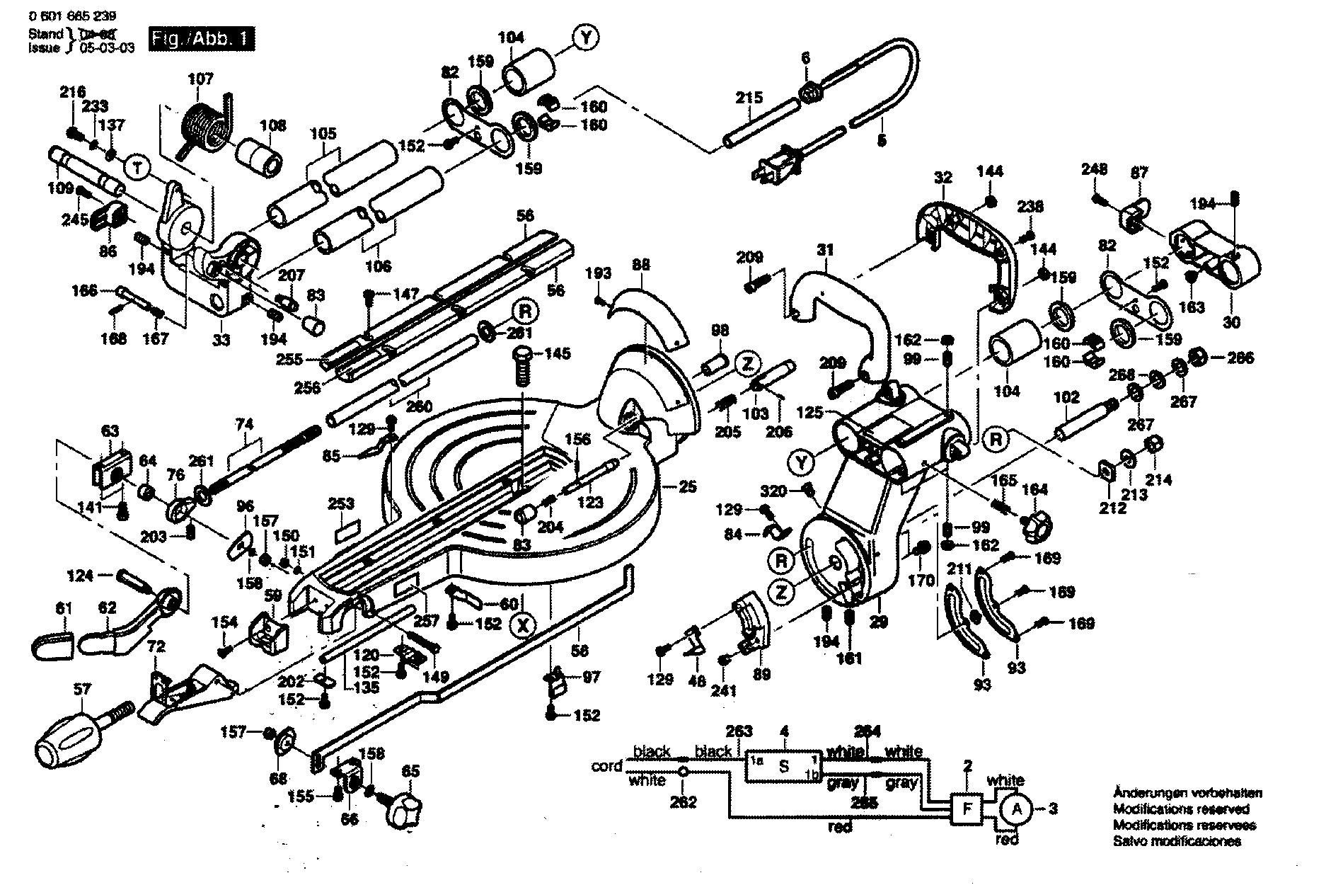 Bosch model 5412L miter saw genuine parts