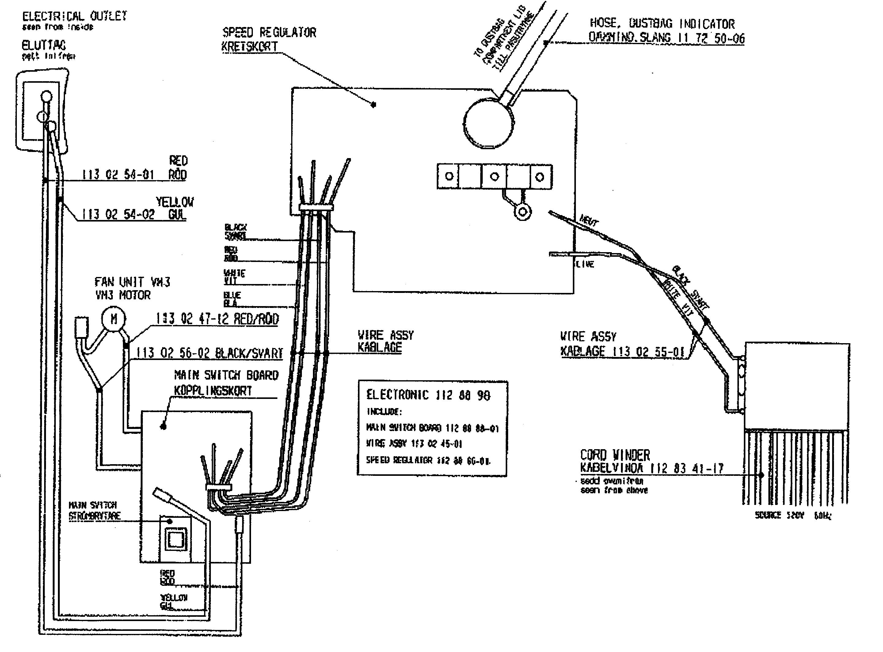Electrolux model EL6988E vacuum, canister genuine parts
