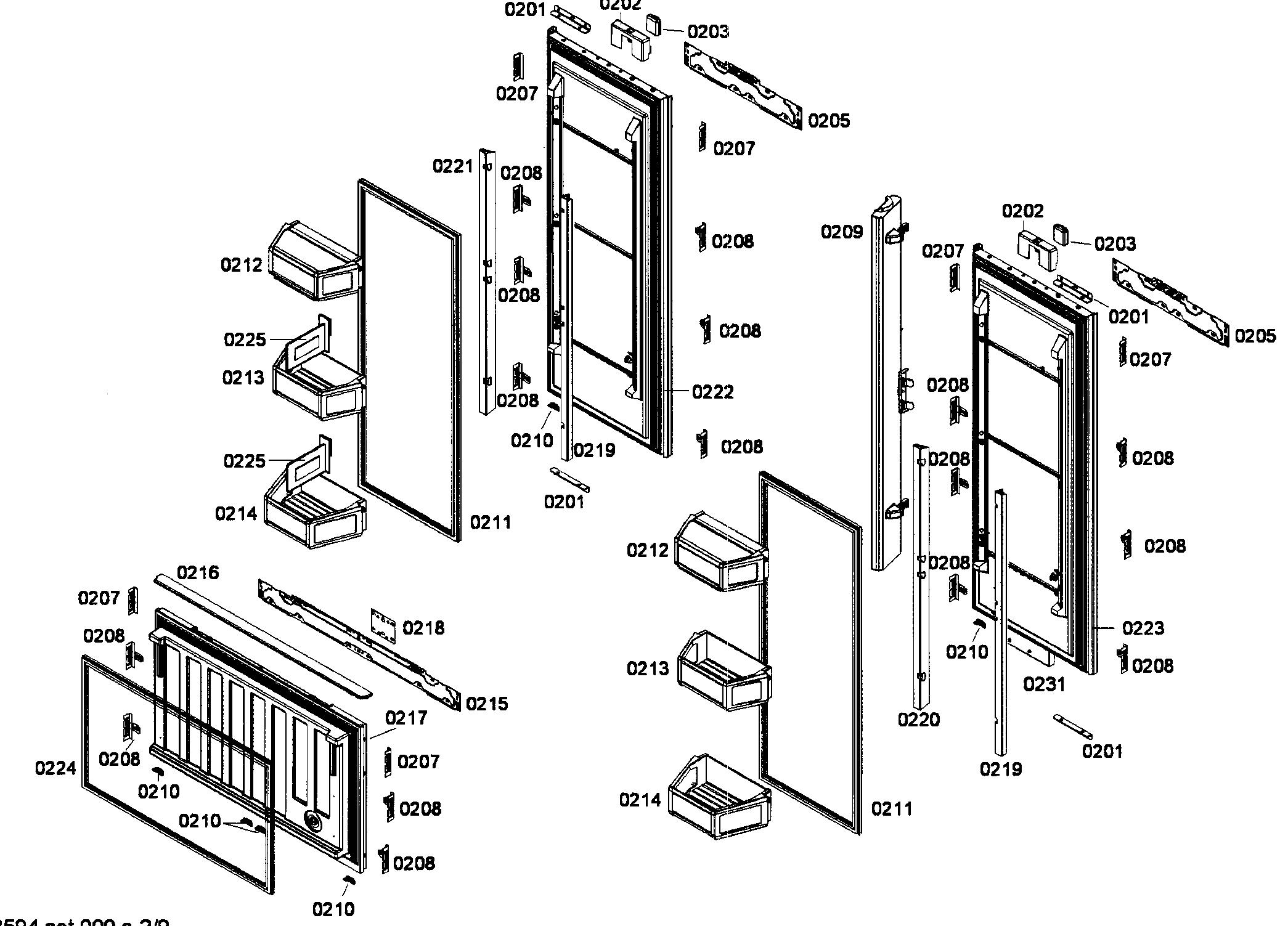 Thermador model T36BT71FSE bottom-mount refrigerator