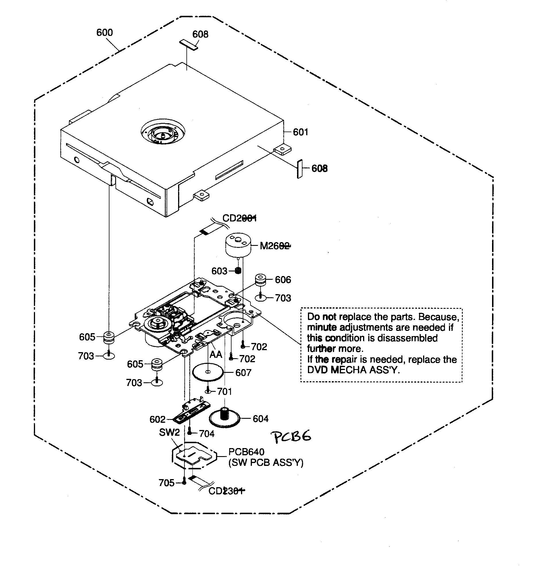Toshiba model 26LV61K tv/vcr or dvd combo genuine parts
