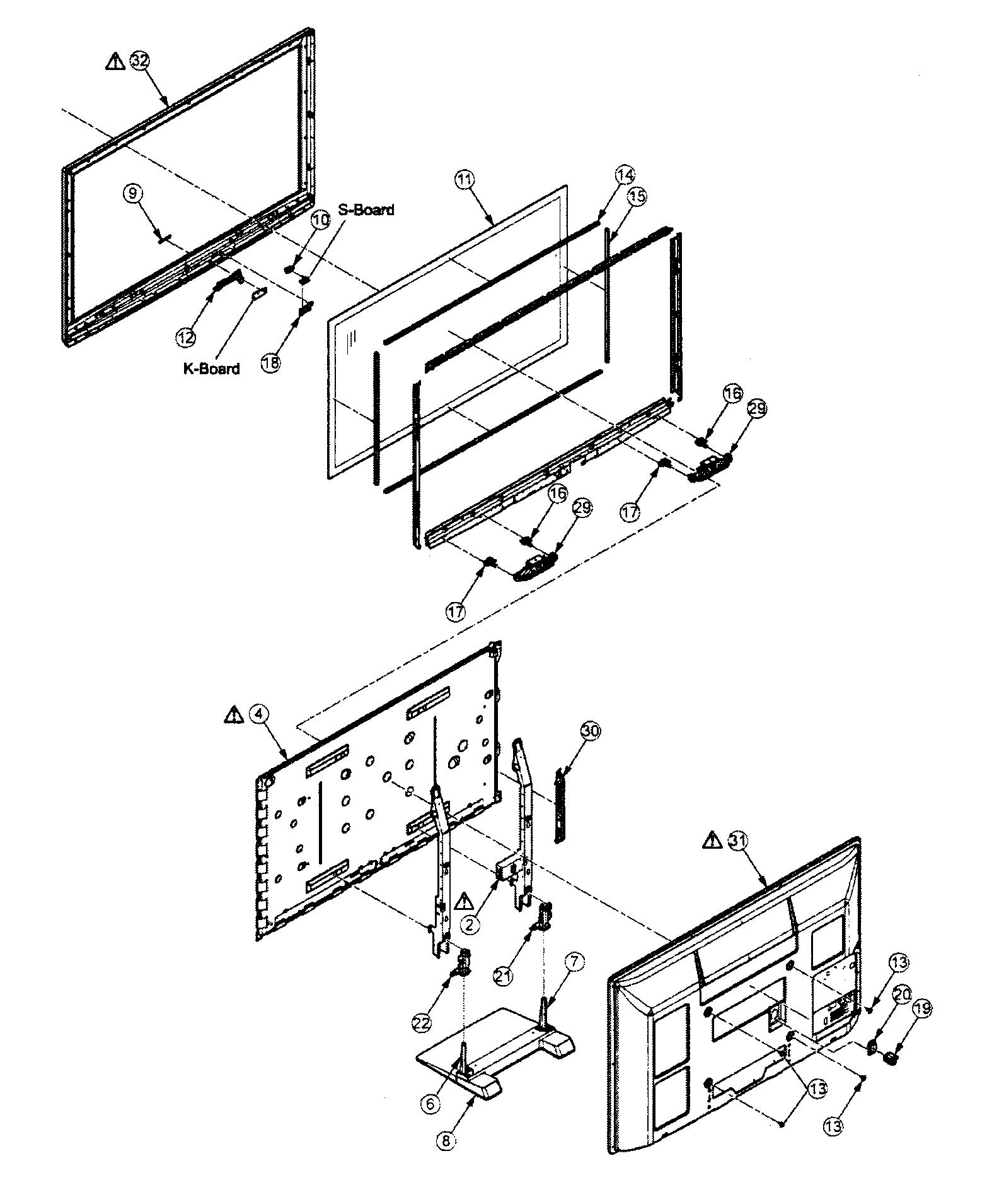 Panasonic model TC-P50C2 plasma television genuine parts