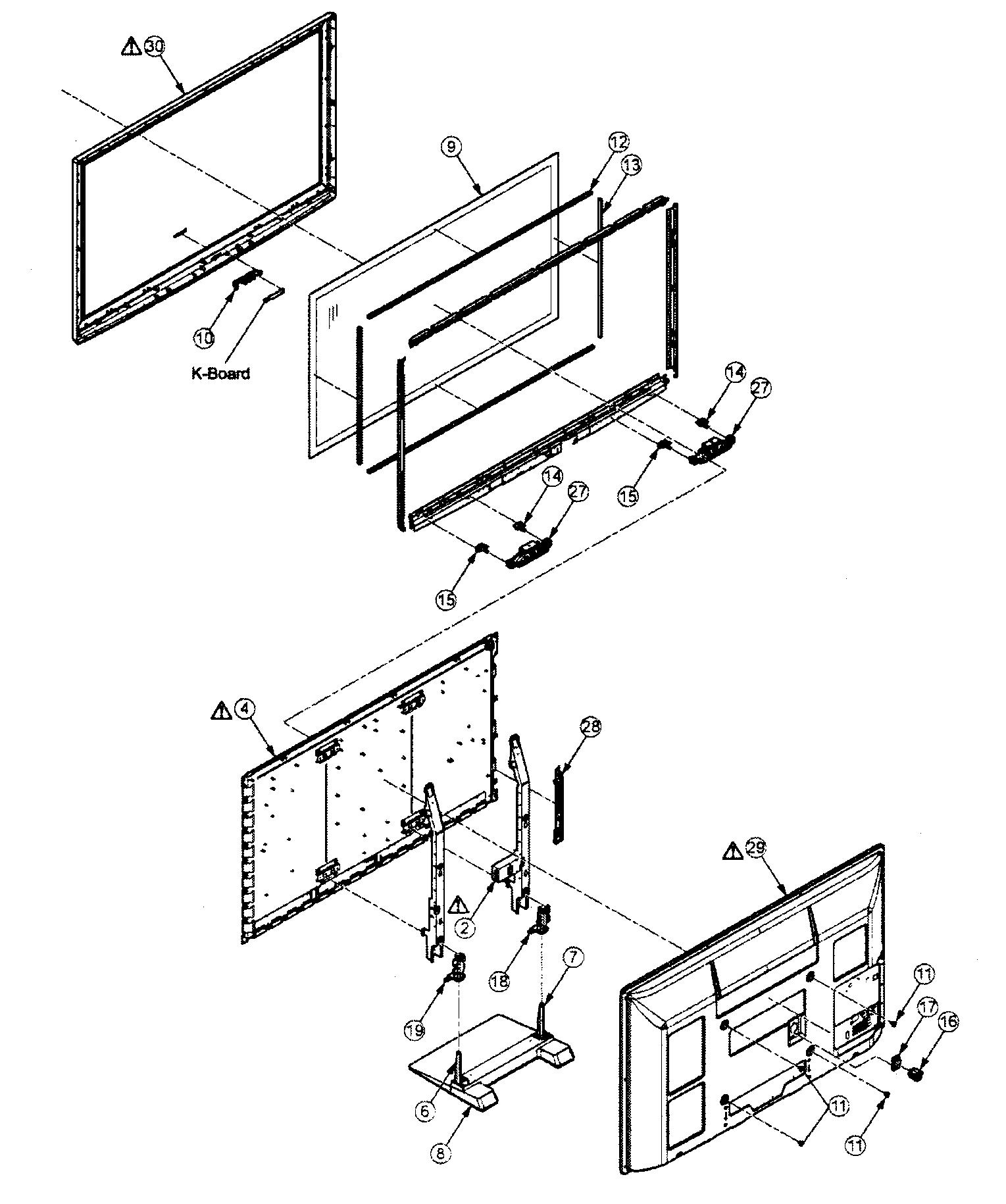 Panasonic model TC-P50S2 plasma television genuine parts