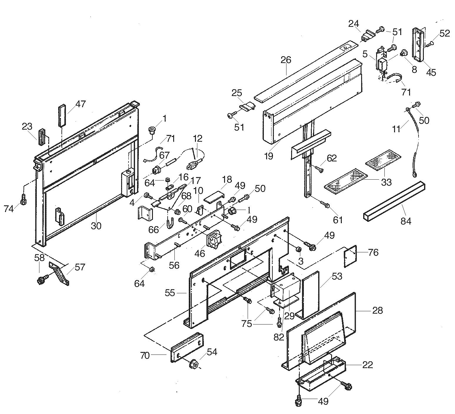 Broan model 283003 range hood genuine parts