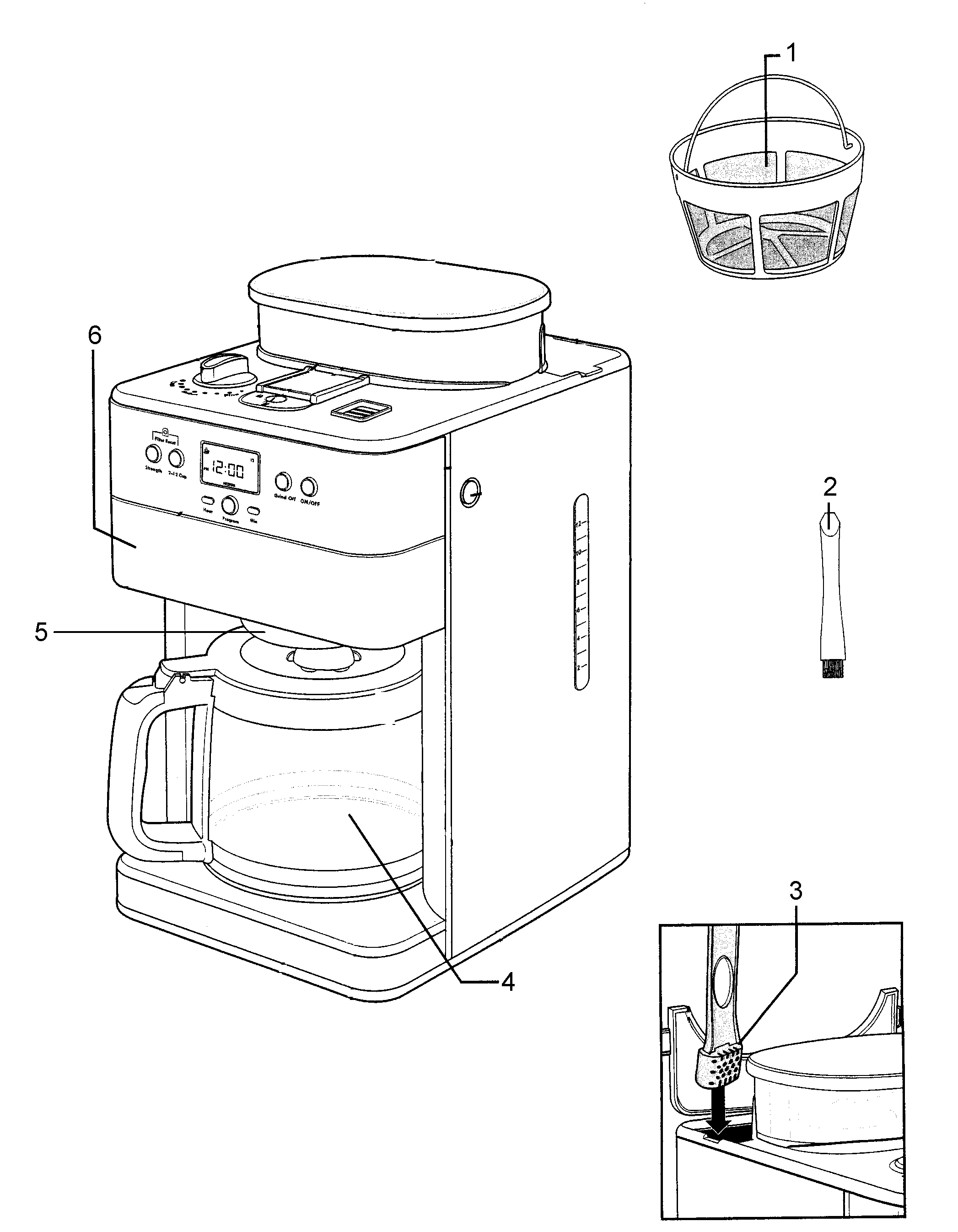 Kenmore-Elite model 10094006 coffee/tea maker genuine parts