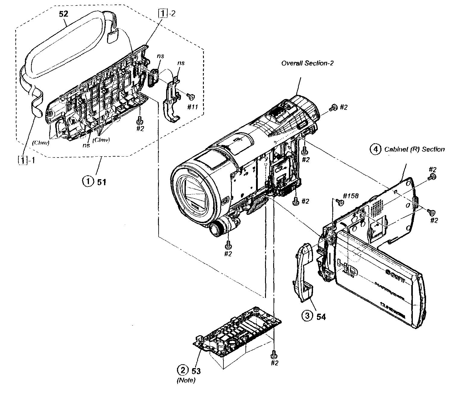 Sony model HDR-CX550V digital camcorder genuine parts
