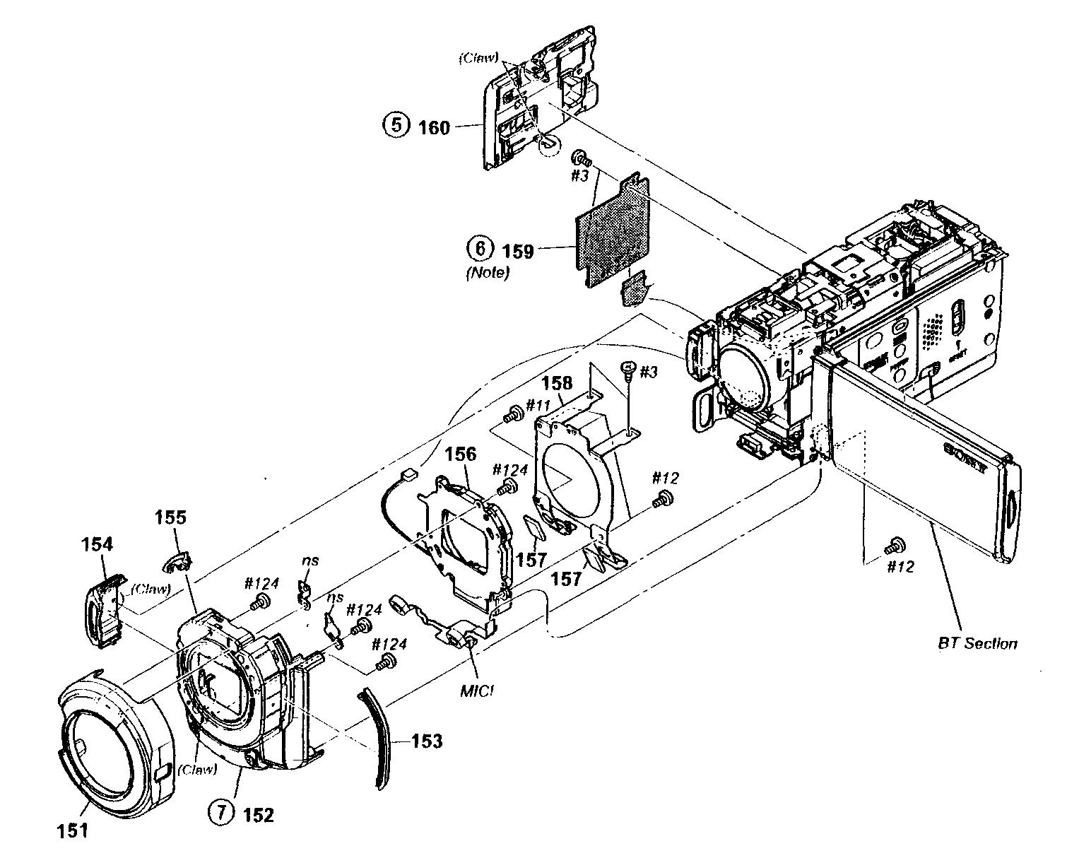 Sony model HDR-CX350V digital camcorder genuine parts