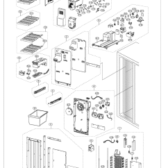 Cabinet Door Diagram 2005 Dodge Durango Infinity Stereo Wiring Samsung Model Rs261mdwp/xaa Side-by-side Refrigerator Genuine Parts