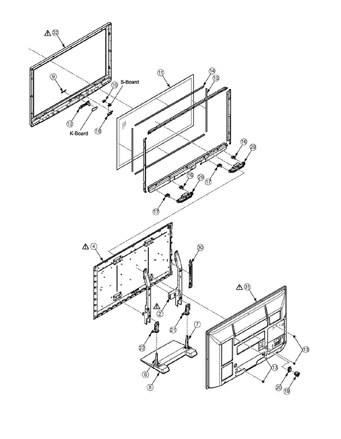 Panasonic model TC-P42U2 plasma television genuine parts