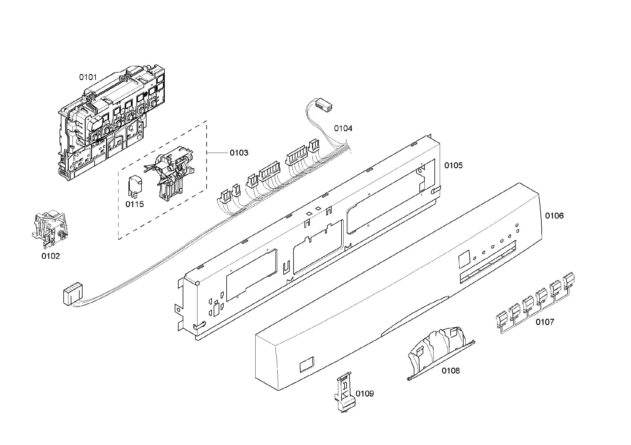 Bosch model SHE45M06UC/50 dishwasher genuine parts